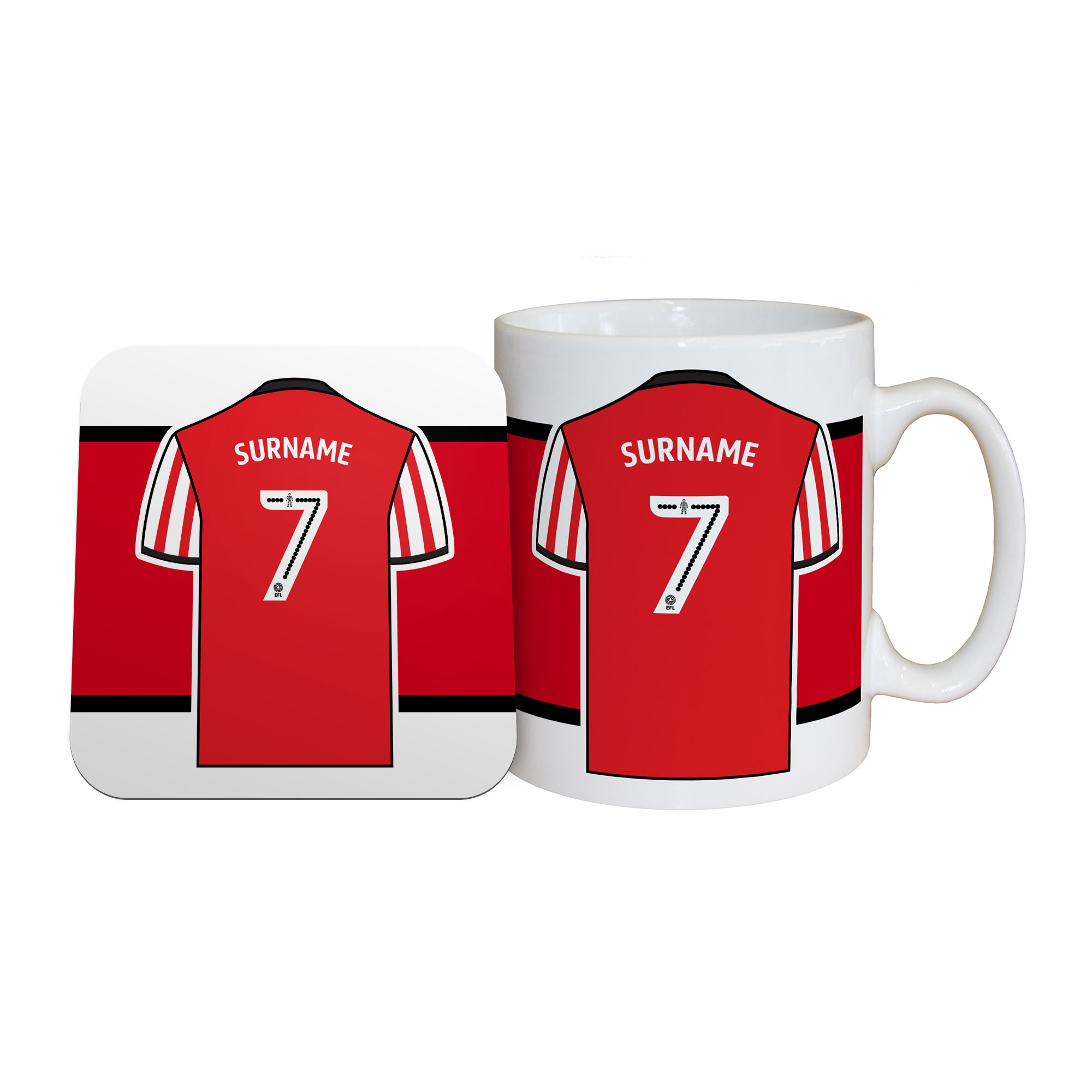 Sunderland Shirt Mug & Coaster Set
