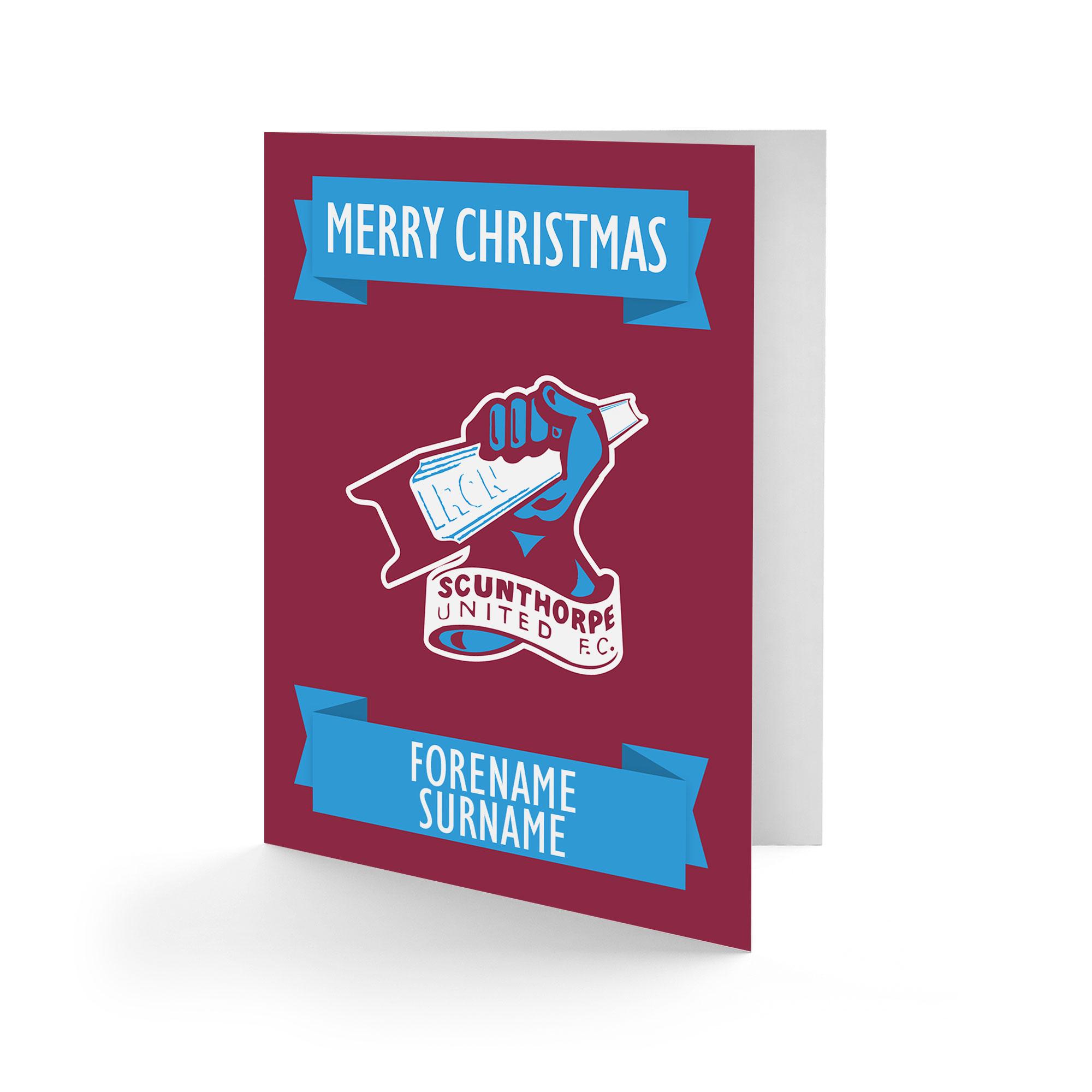 Scunthorpe United FC Crest Christmas Card