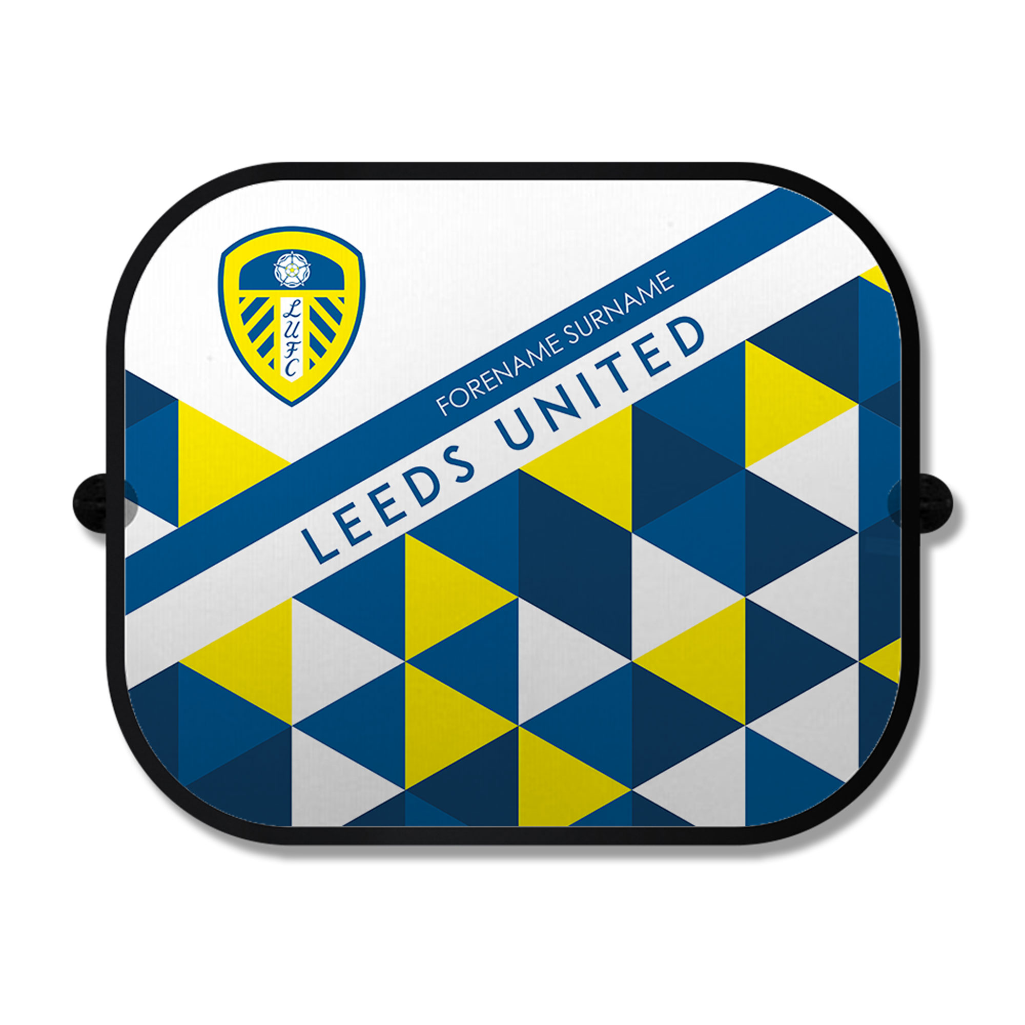 Leeds United FC Patterned Car Sunshade