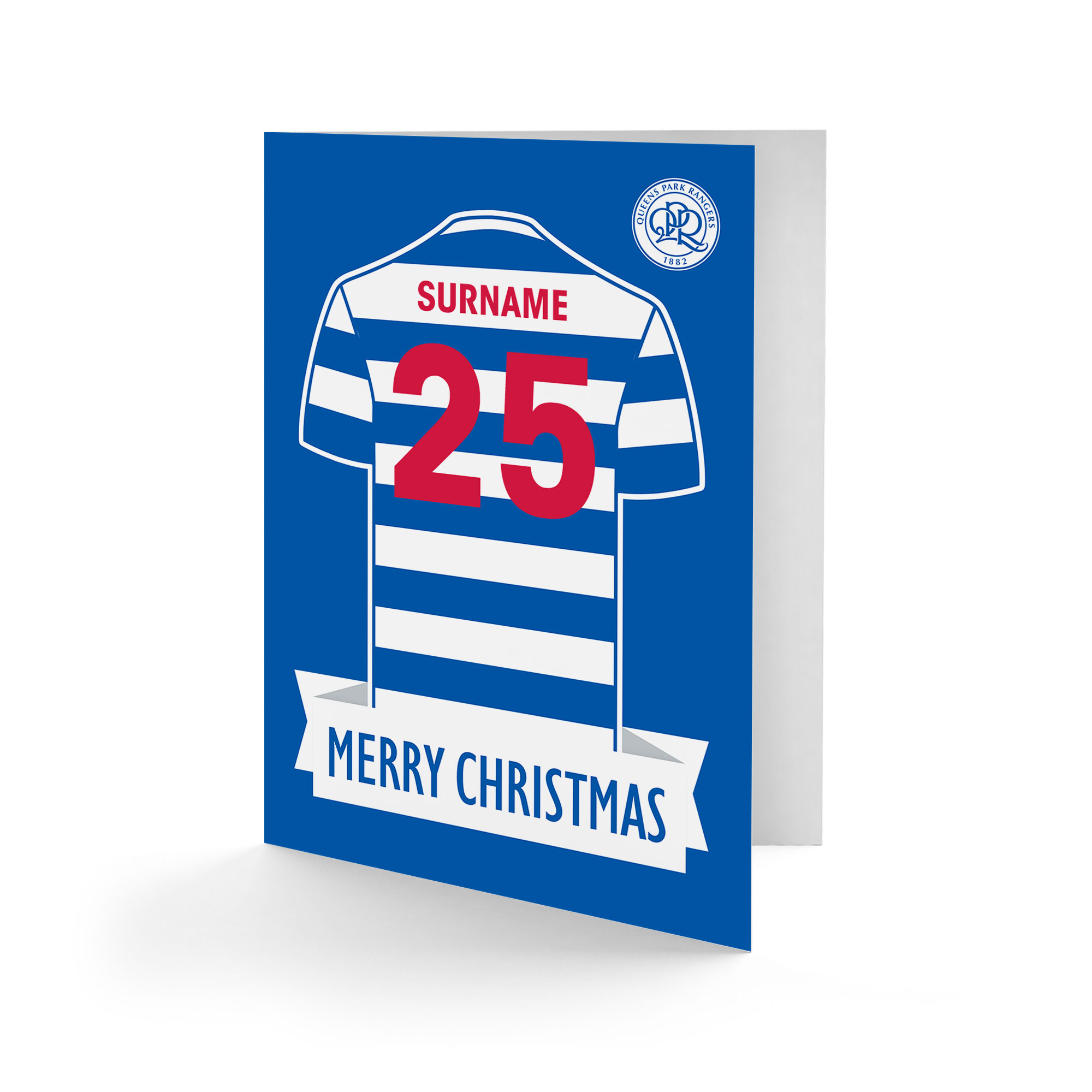 Queens Park Rangers FC Shirt Christmas Card