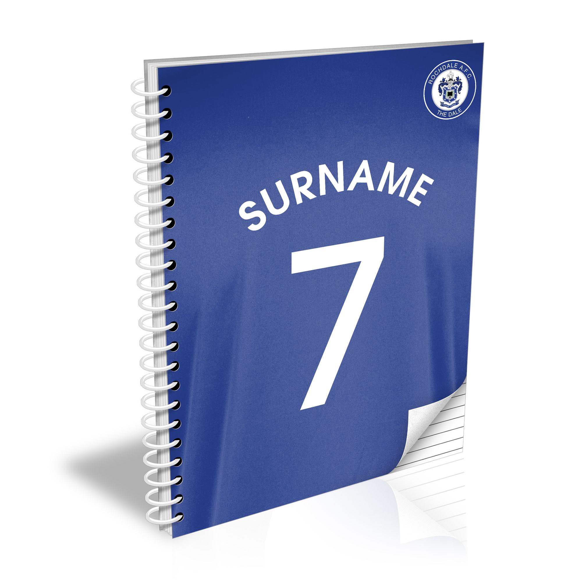 Rochdale AFC Shirt Notebook