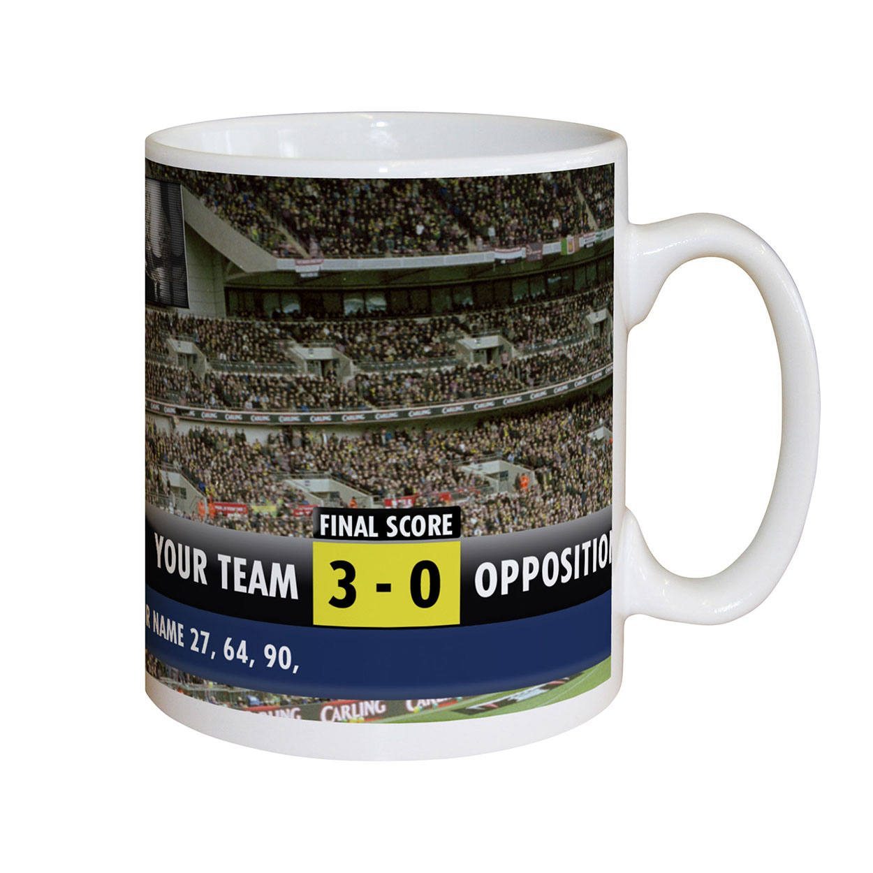 Personalised Football Scoreboard Mug