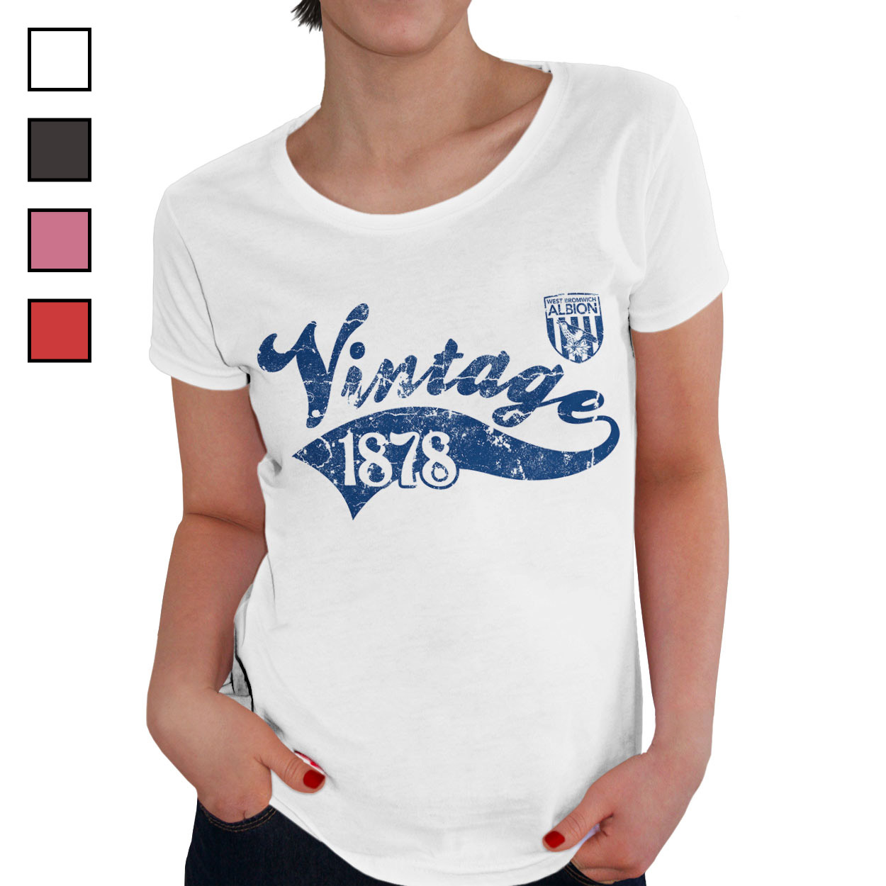 West Bromwich Albion FC Ladies Vintage T-Shirt