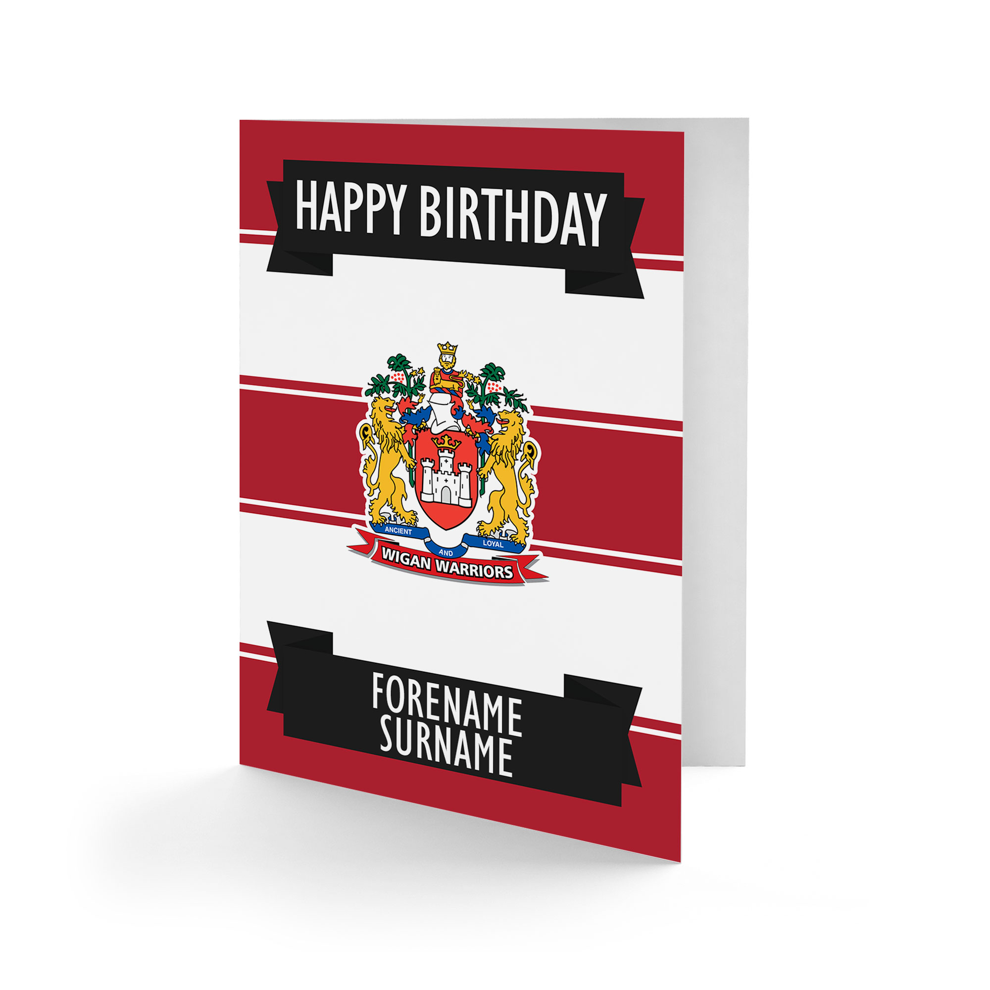 Wigan Warriors Crest Birthday Card