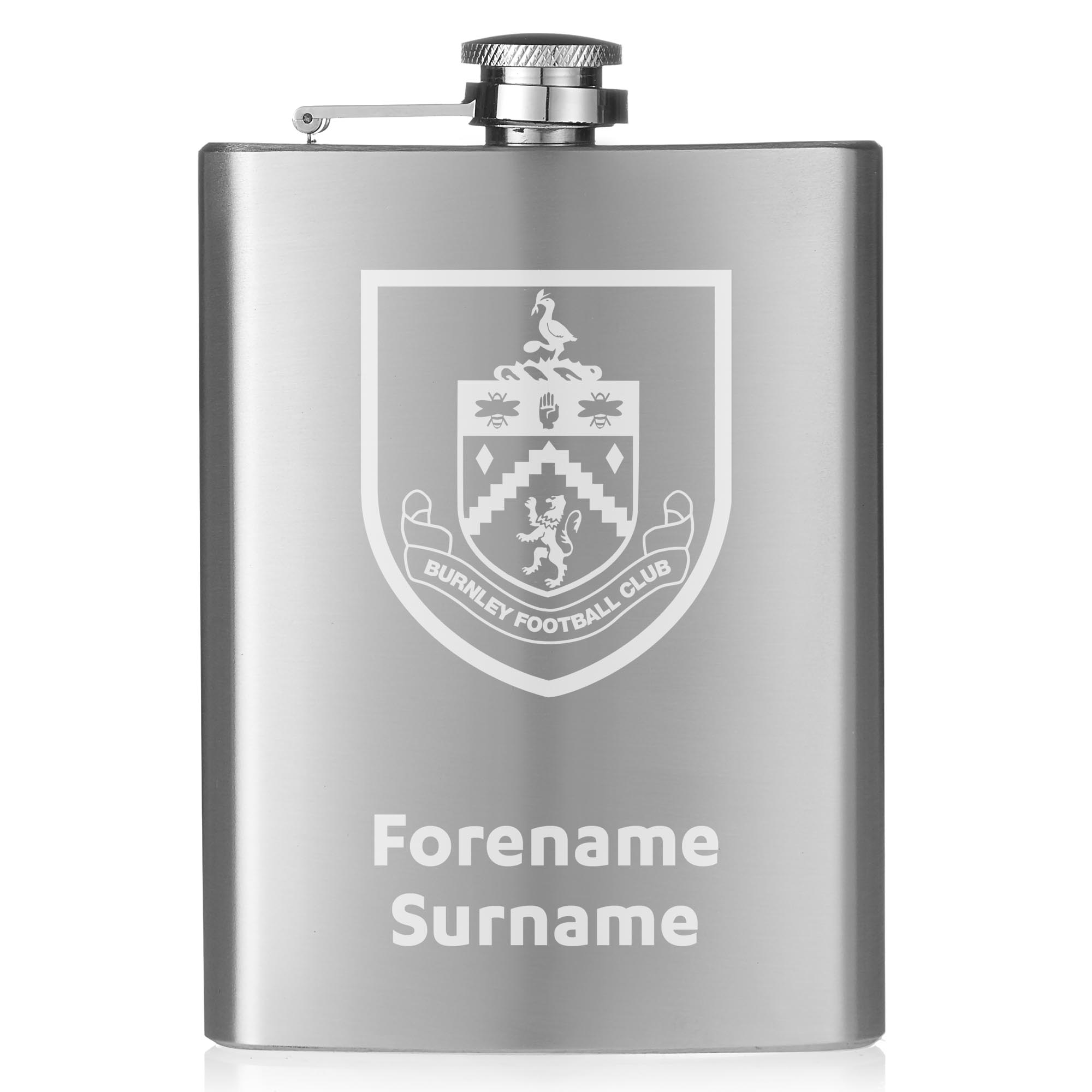 Burnley FC Crest Hip Flask