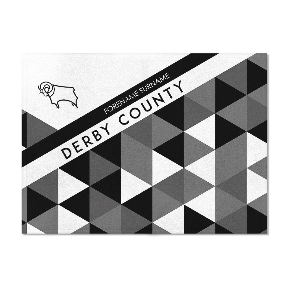 Derby County Patterned Blanket (150cm x 110cm)