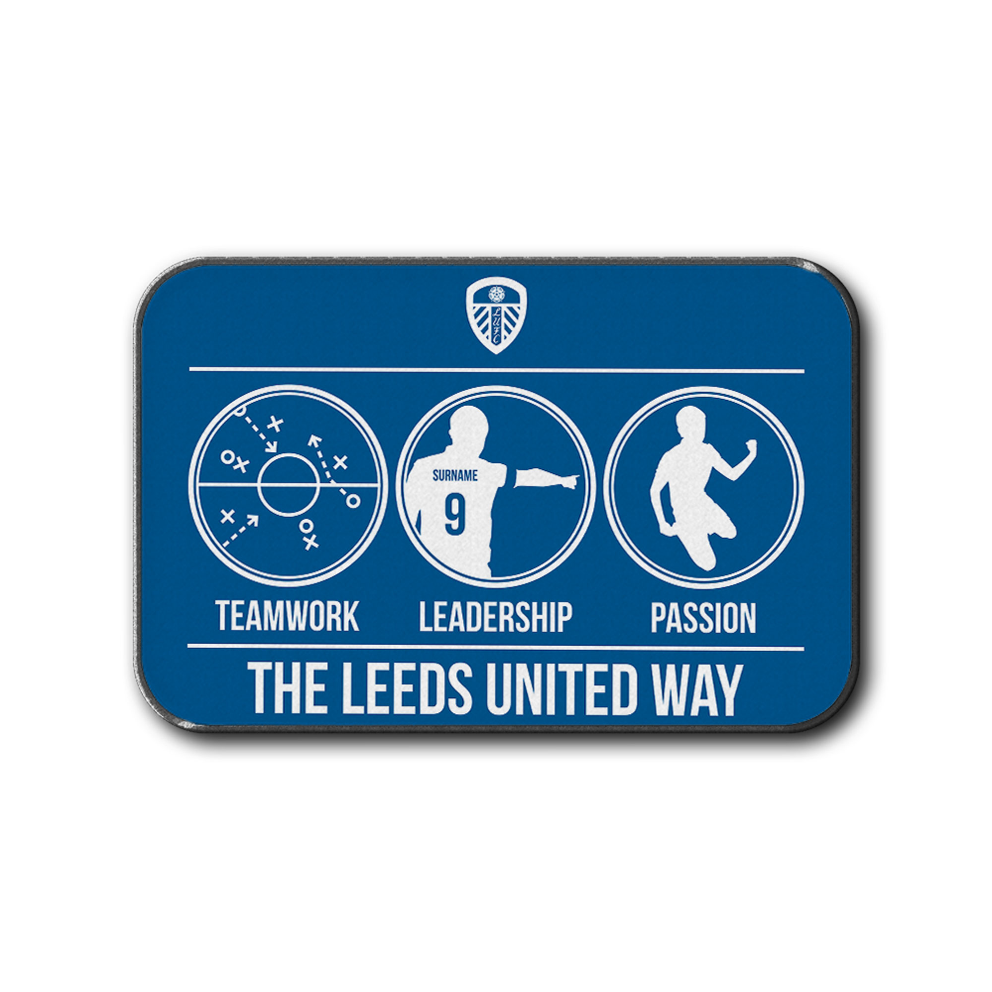 Leeds United Teamwork, Leadership, Passion Rear Car Mat