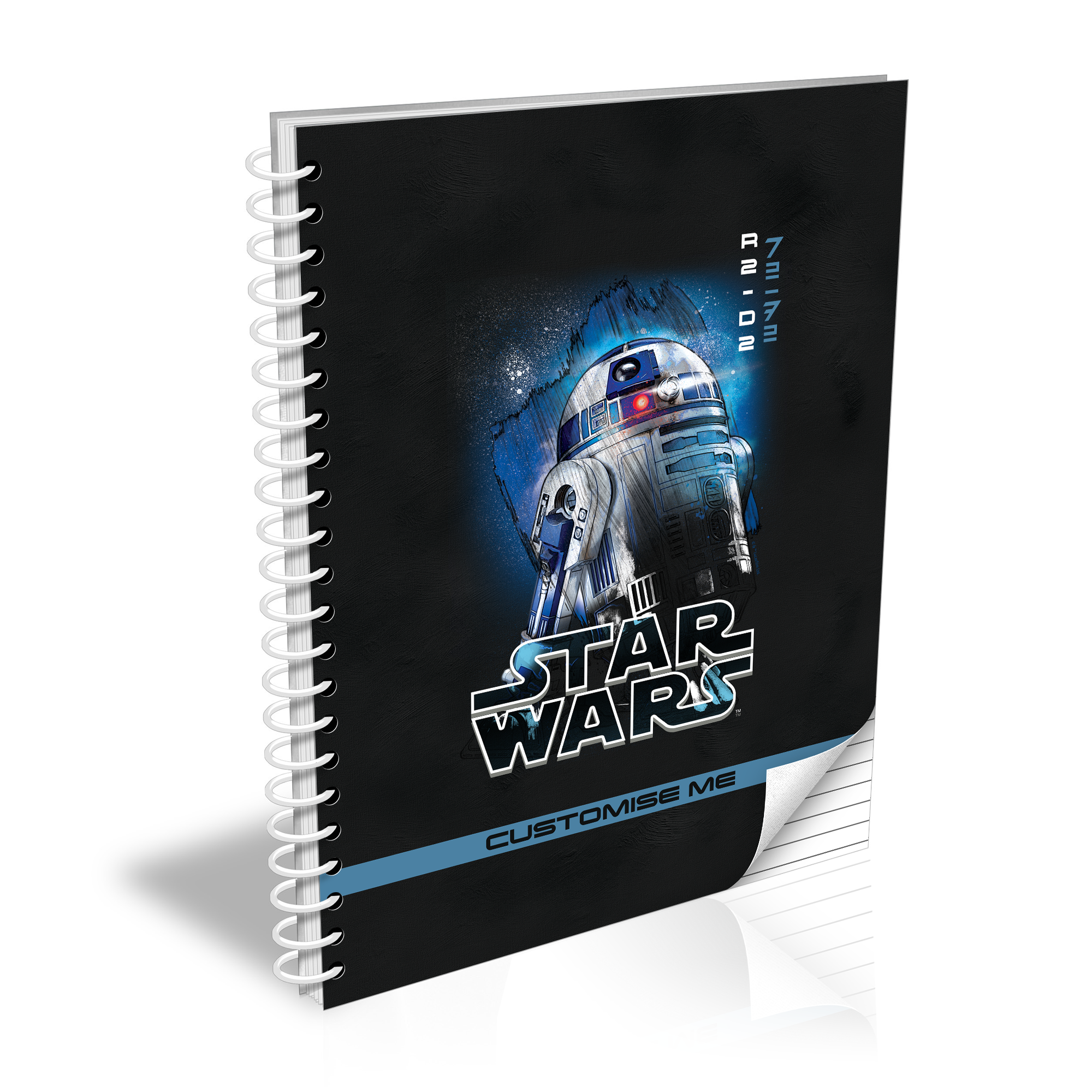 Star Wars R2-D2 Last Jedi Spray Paint A5 Notebook