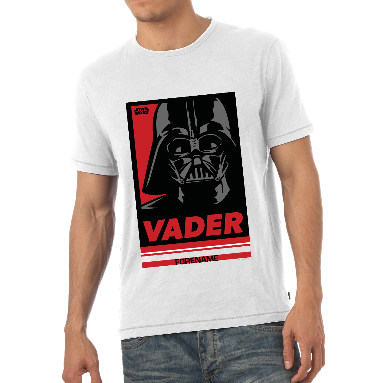 Star Wars Vader Pop Art Mens T-shirt