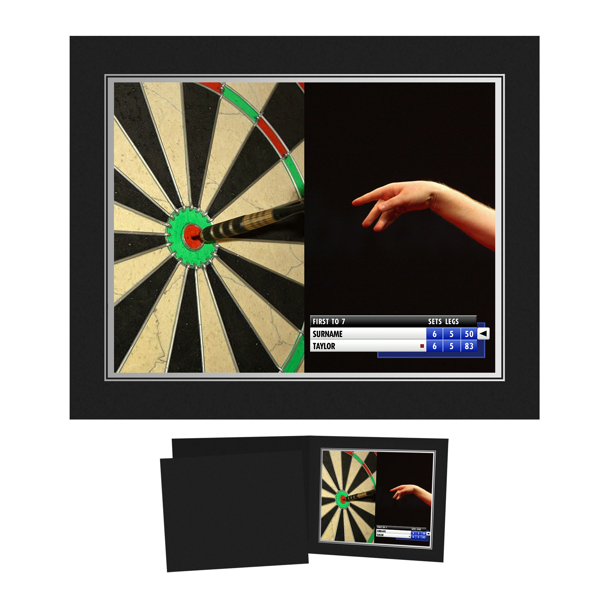 Personalised Darts Photo Folder