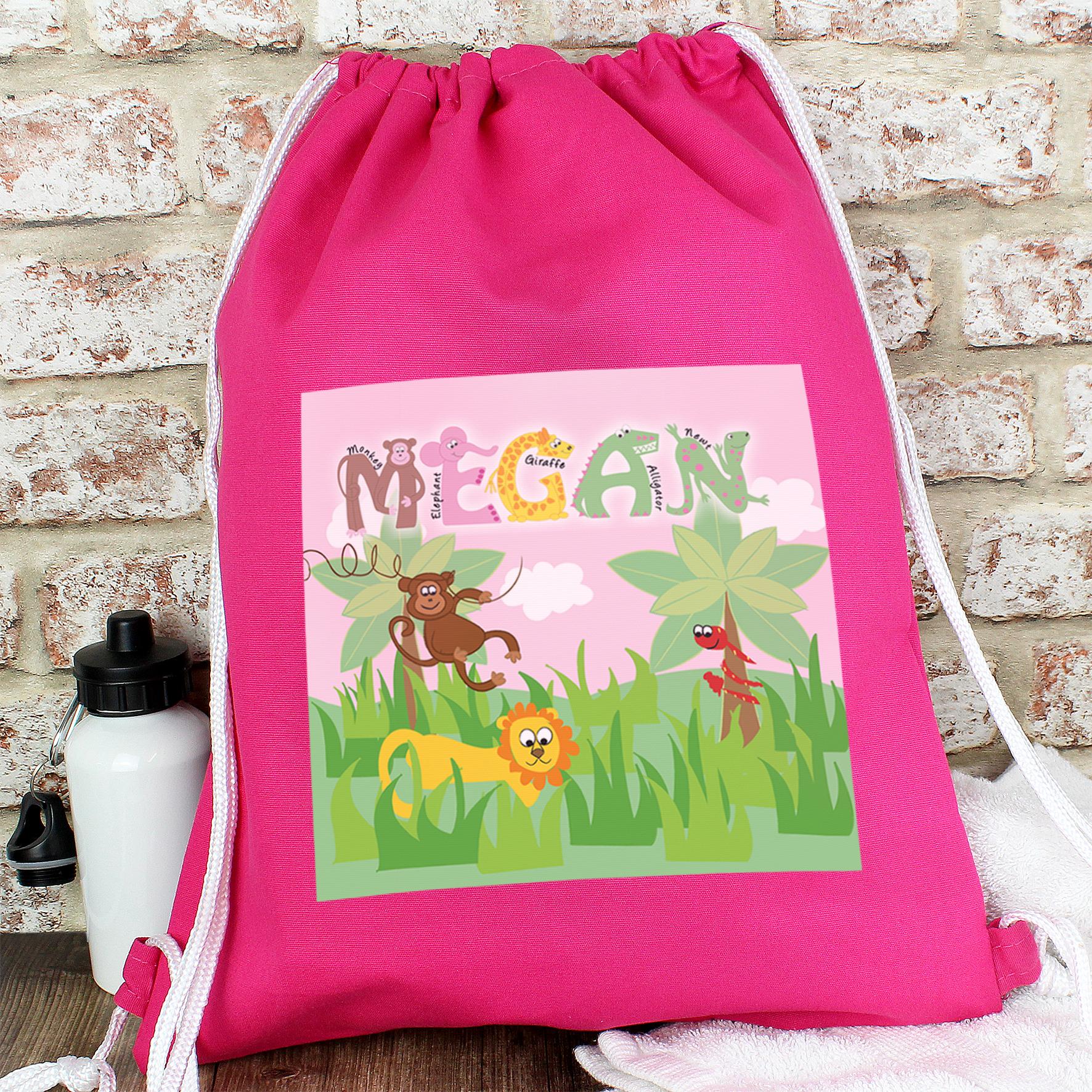 Personalised Animal Alphabet Girls Kit Bag