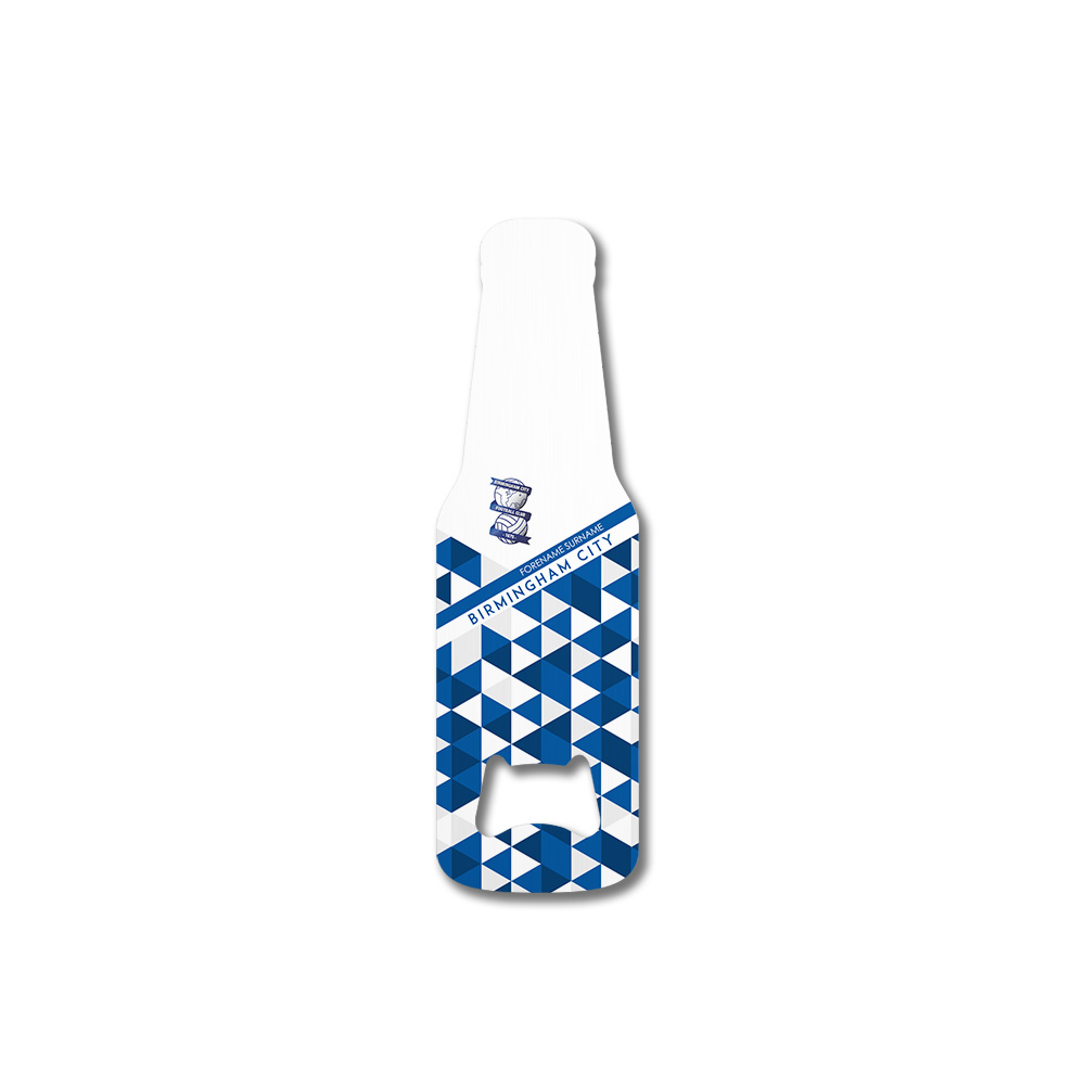 Birmingham City FC Patterned Bottle Shaped Bottle Opener