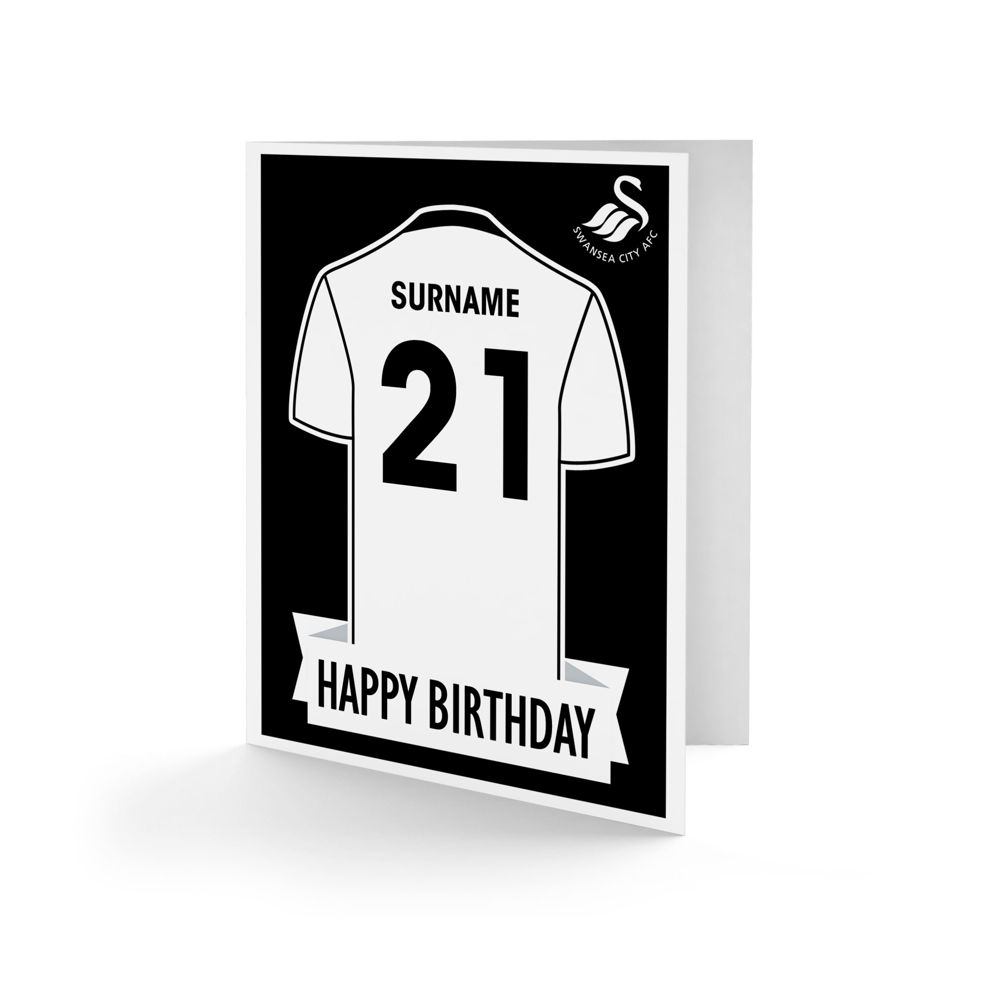 Swansea City AFC Shirt Birthday Card