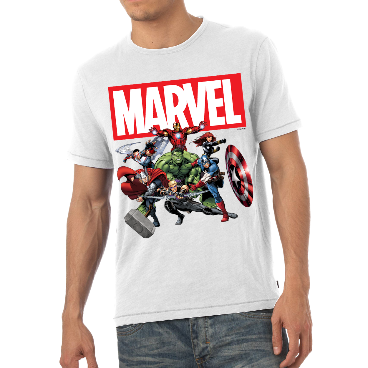 Marvel Avengers Group Mens T-Shirt
