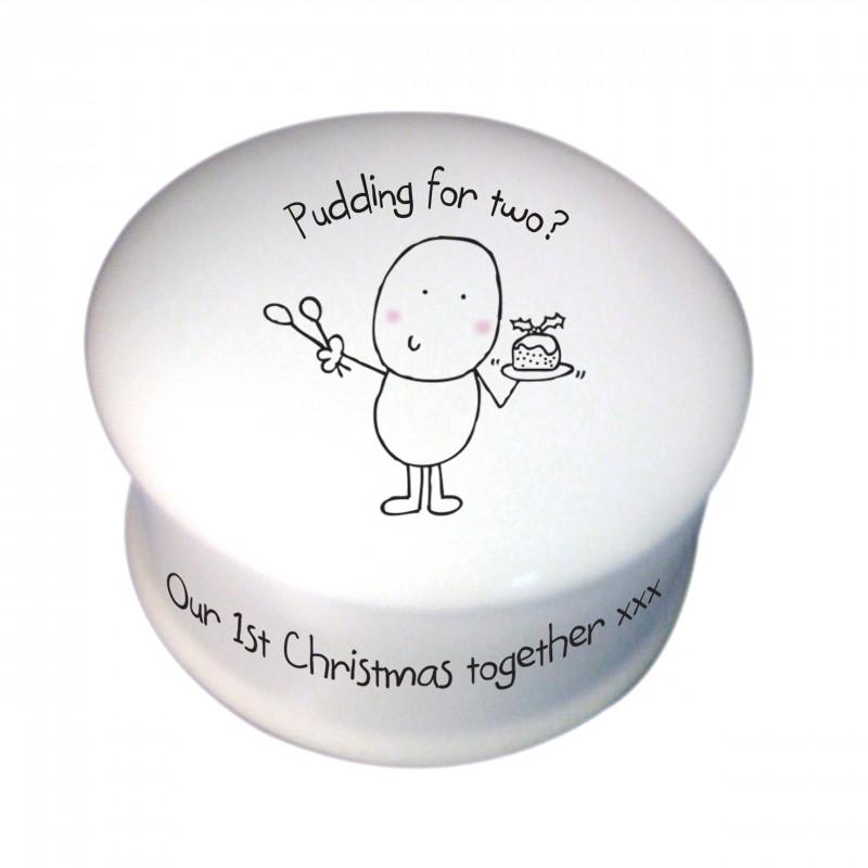 Chilli & Bubble's Christmas Pudding Trinket Box
