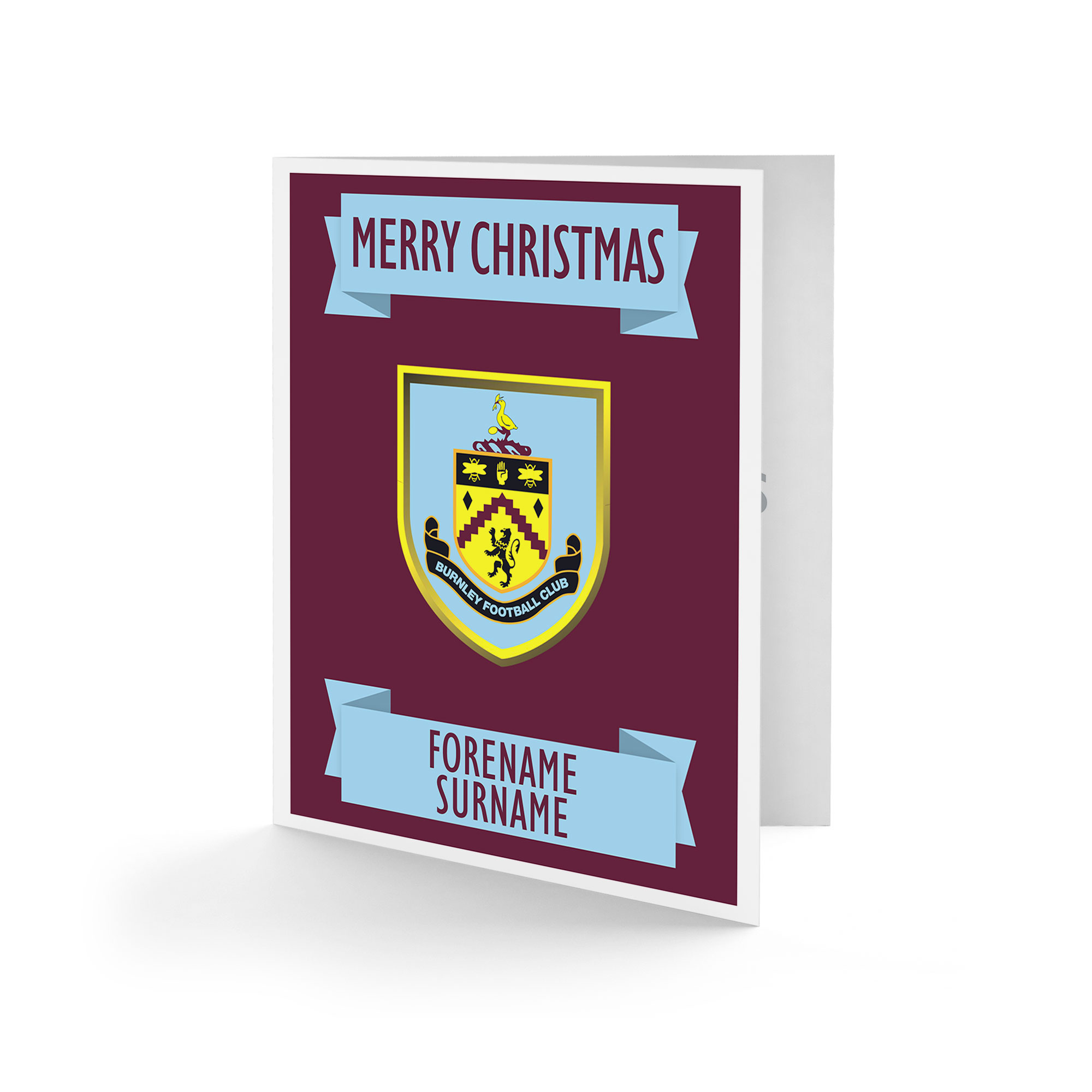 Burnley FC Crest Christmas Card