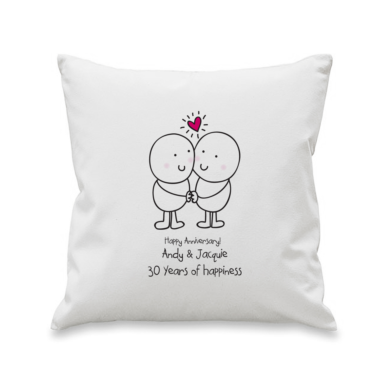 Chilli and Bubbles Anniversary Cushion Cover