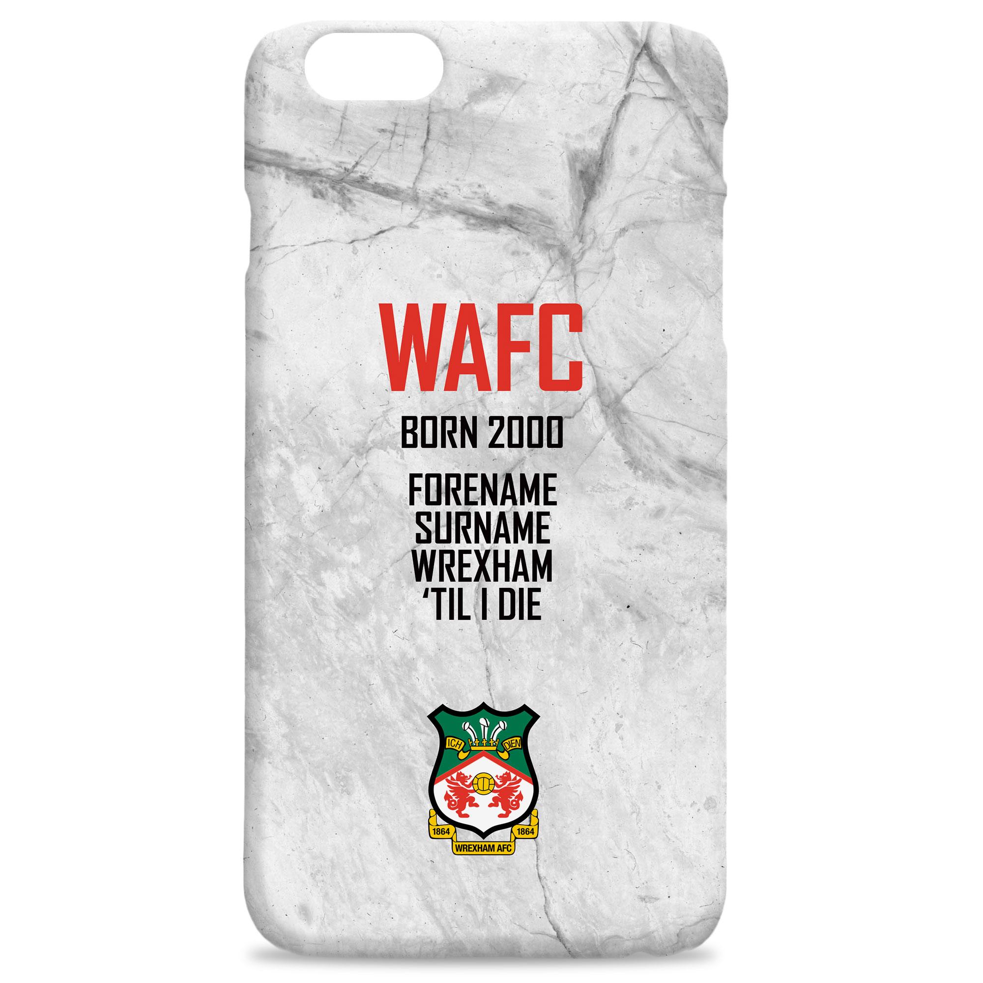 Wrexham AFC 'Til I Die Hard Back Phone Case