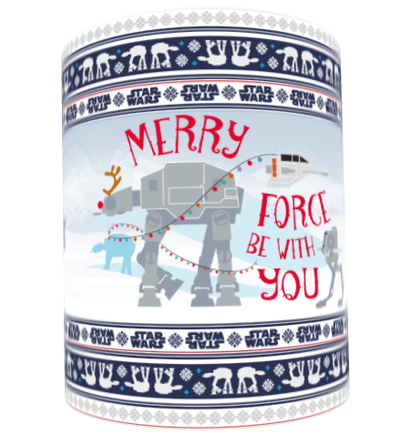 "Star Wars Classic ""Merry Force Be With You"" Christmas Mug"