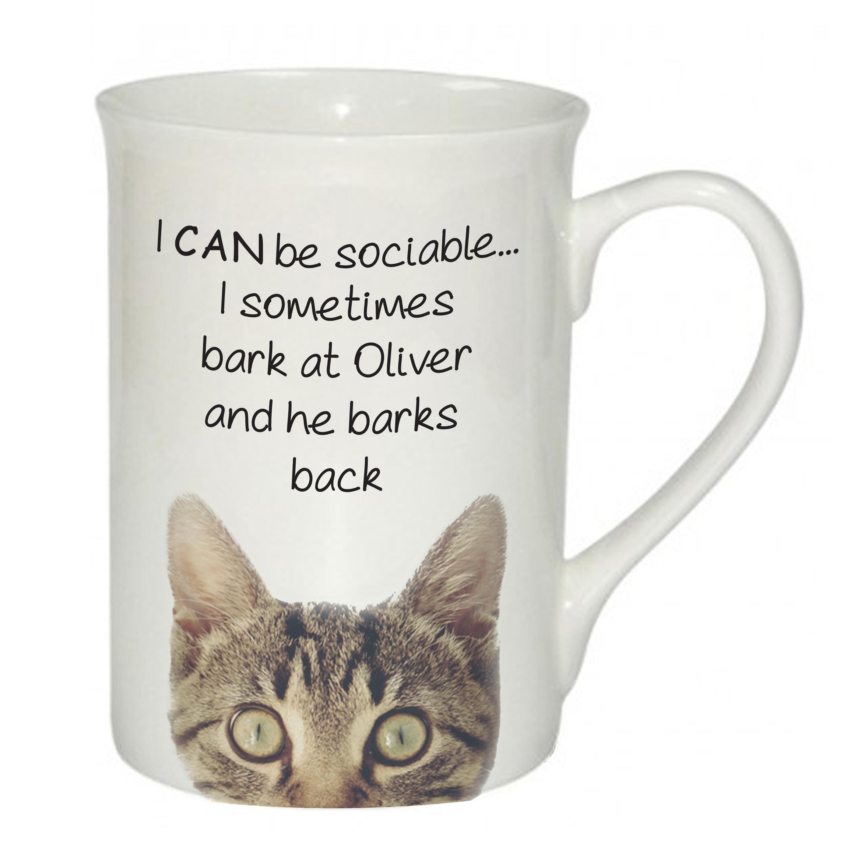Sociable Cat Mug