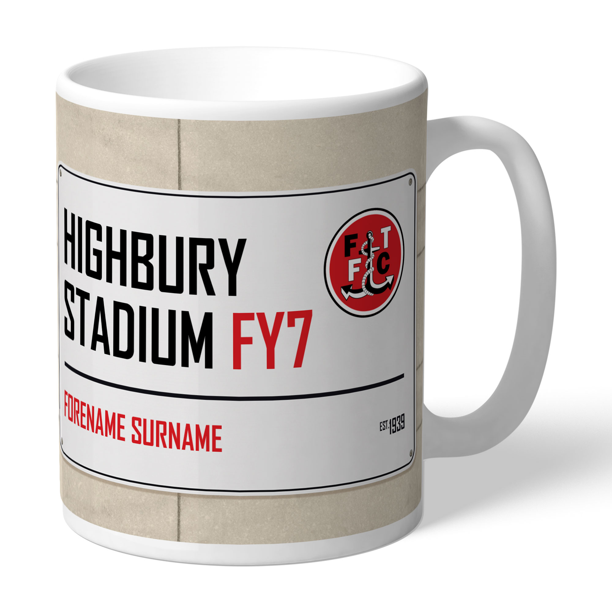 Fleetwood Town FC Street Sign Mug