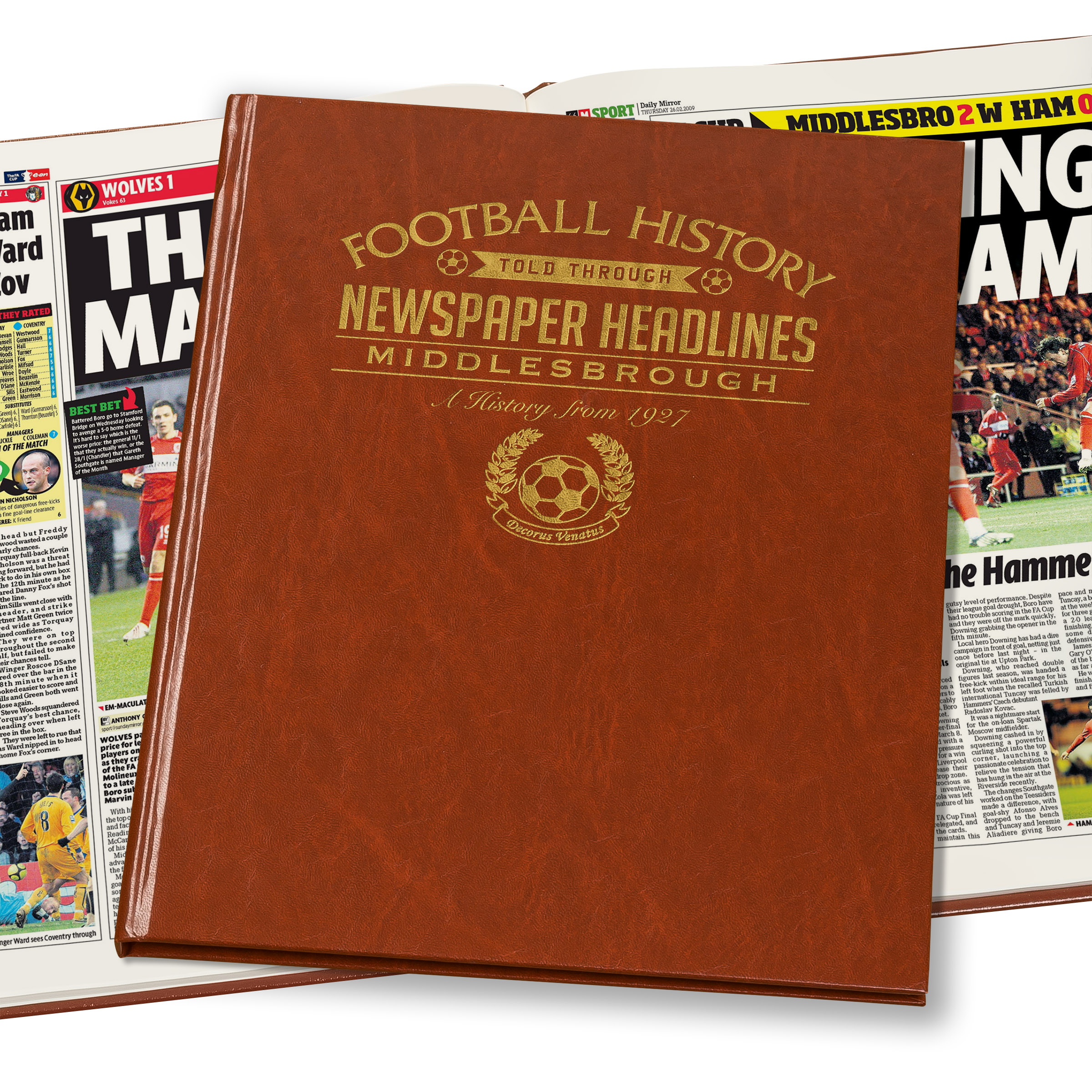 Middlesbrough Newspaper Book (Colour Pages)