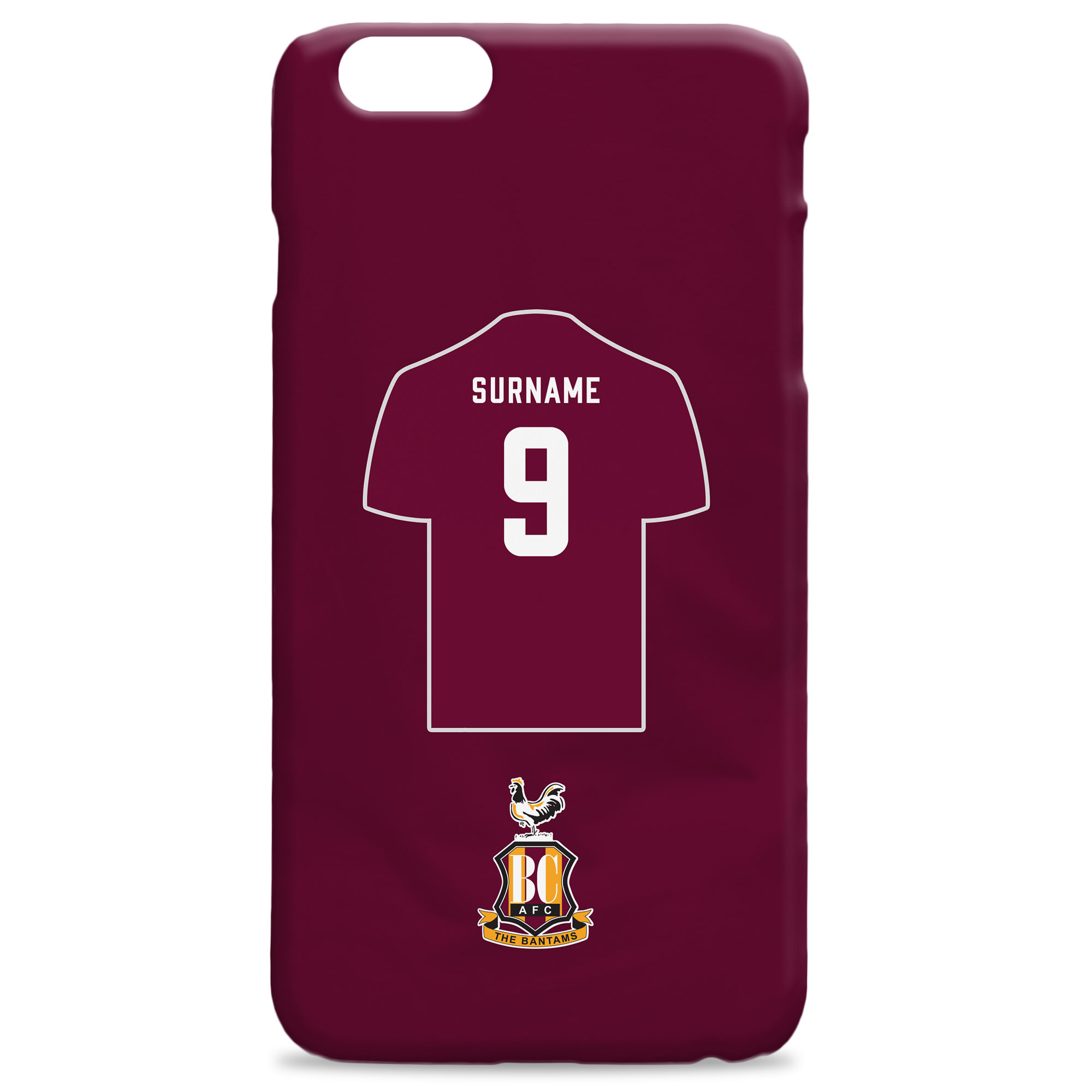 Bradford City AFC Shirt Hard Back Phone Case