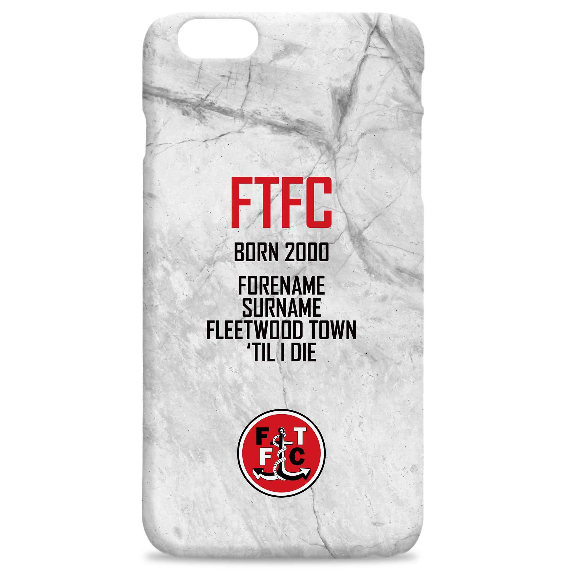 Fleetwood Town FC 'Til I Die Hard Back Phone Case