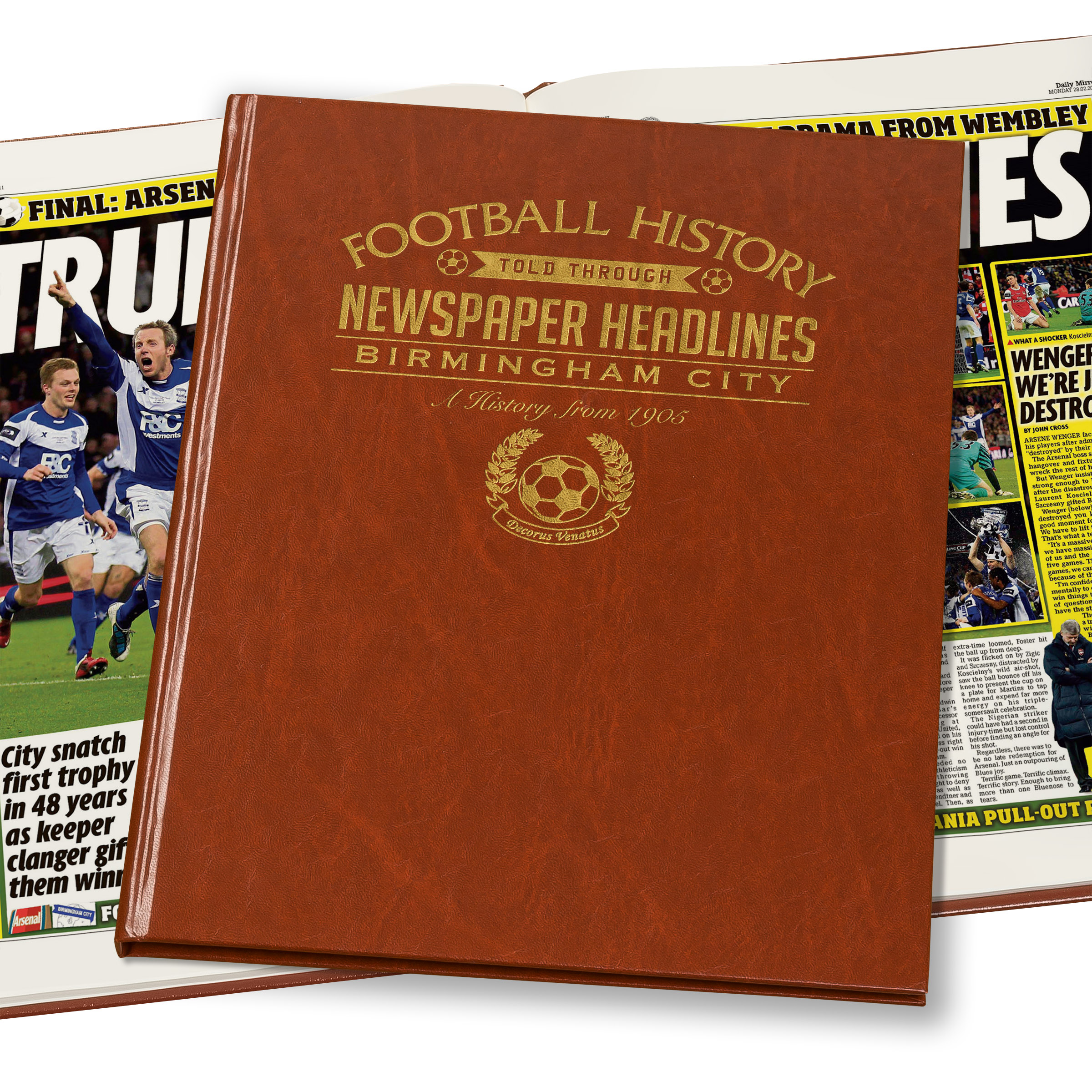Birmingham Football Newspaper Book (Colour Pages)