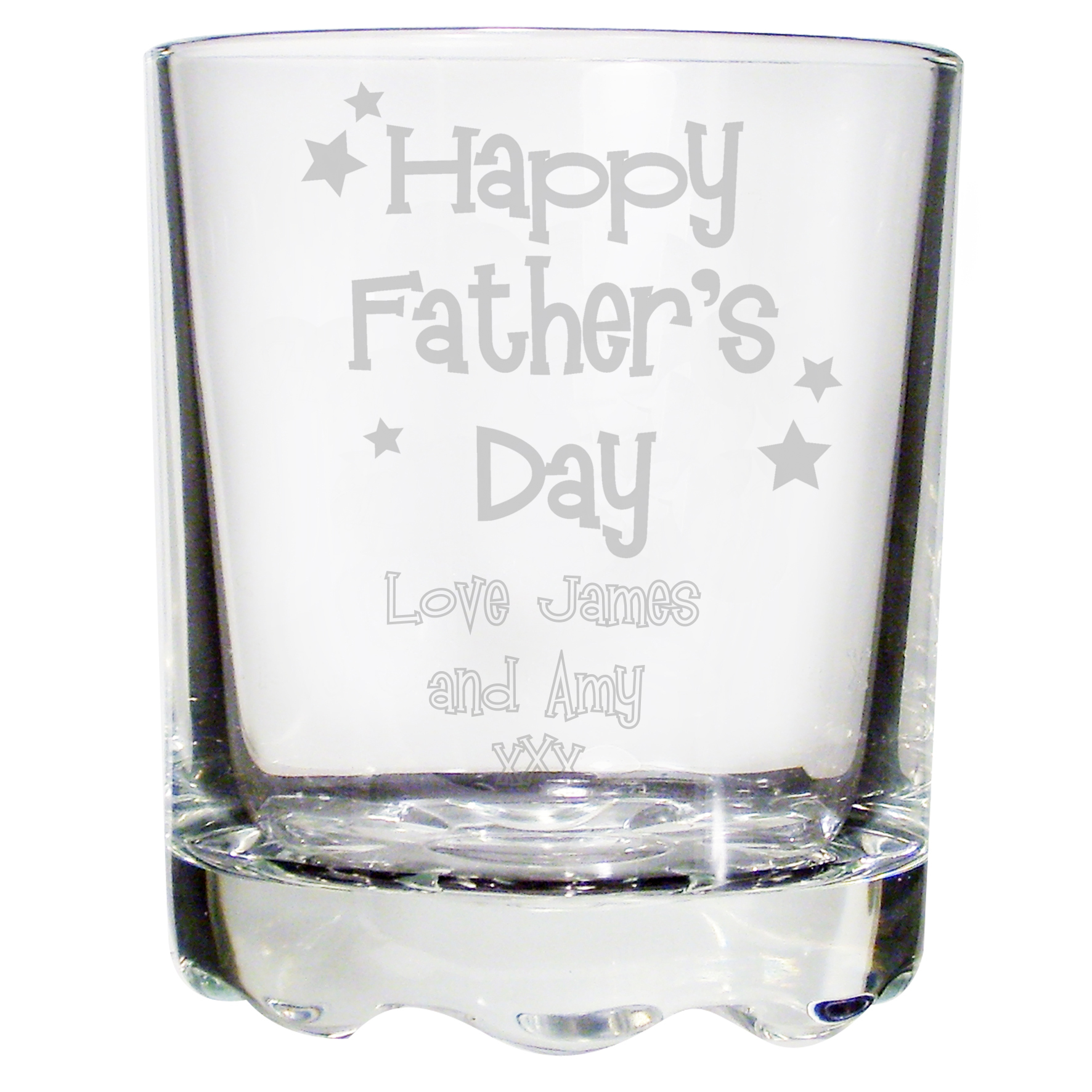 Personalised Happy Fathers Day Stern Whisky Glass