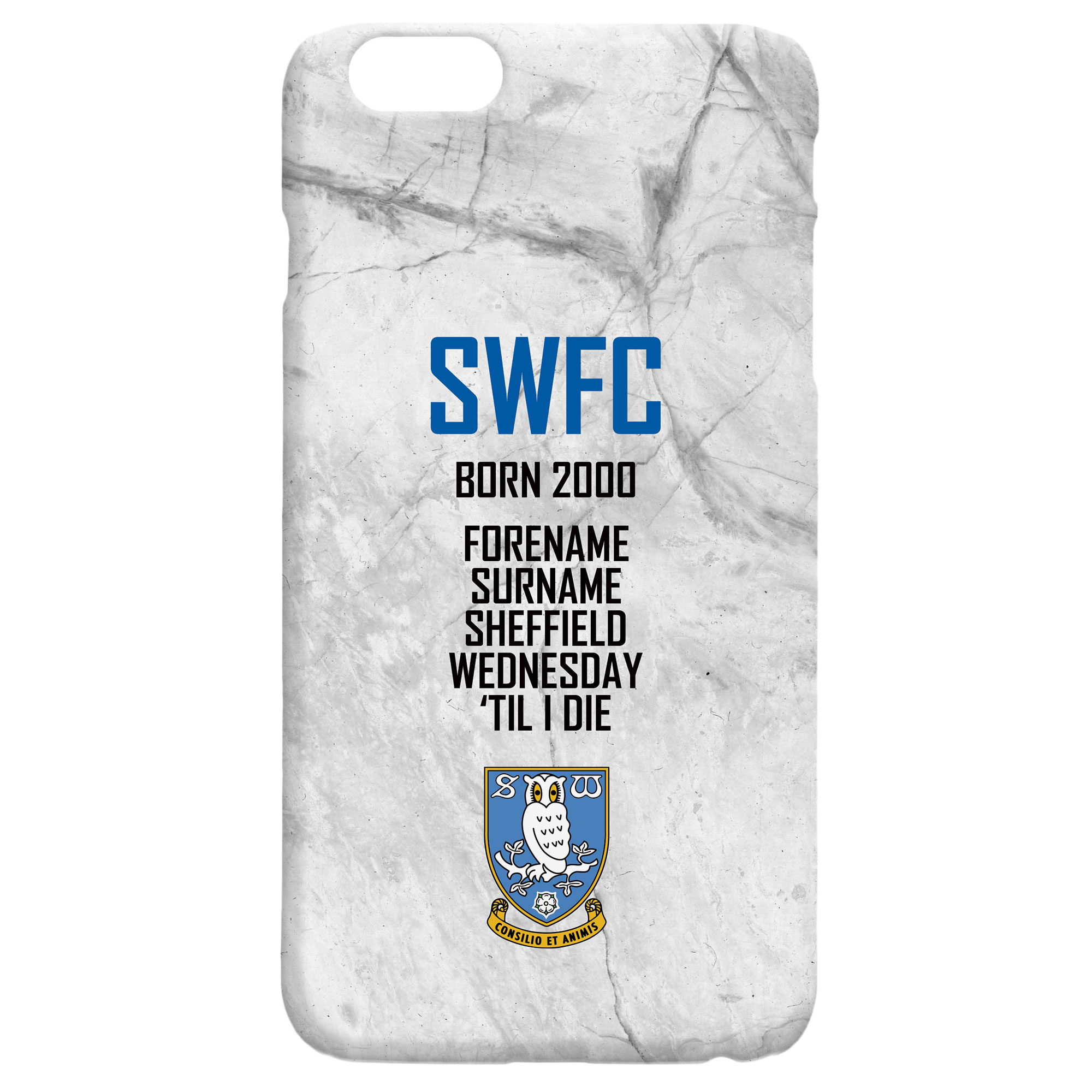 Sheffield Wednesday FC 'Til I Die Hard Back Phone Case