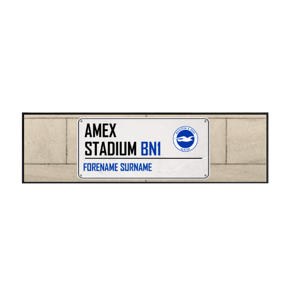 Brighton & Hove Albion FC Street Sign Large Bar Runner