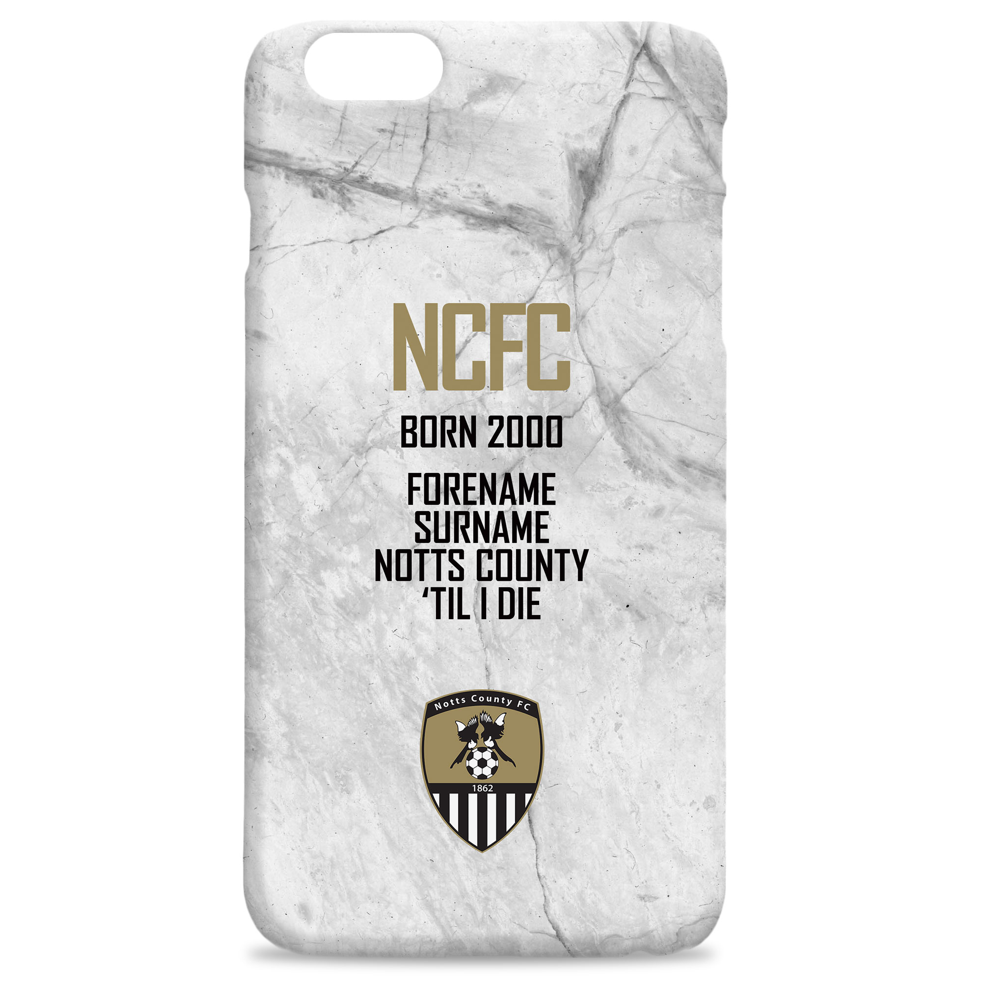 Notts County FC 'Til I Die Hard Back Phone Case