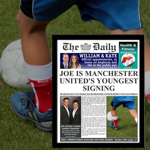 The Daily Youngest Signing News Single Page Print - Male