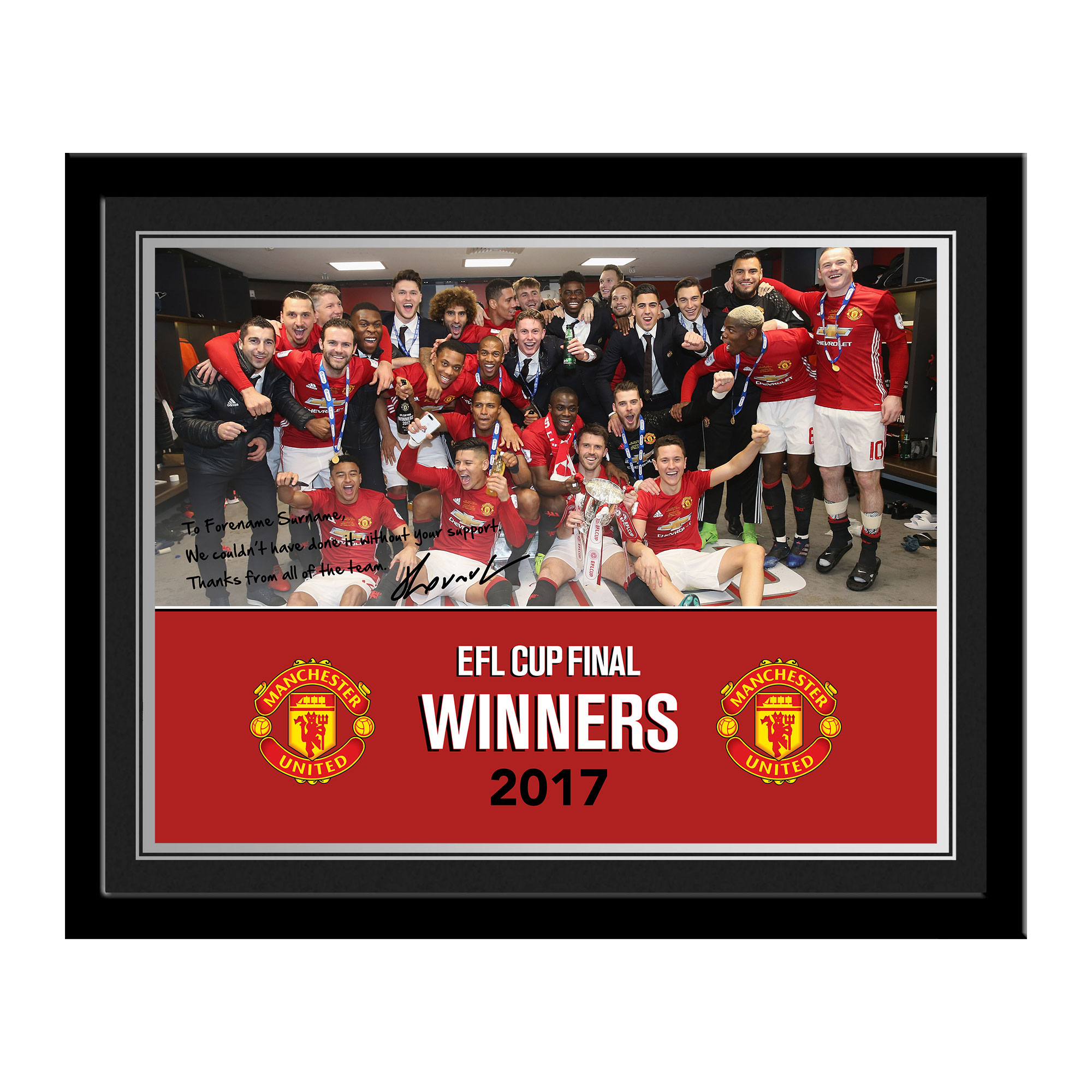 Manchester United FC EFL Cup Winners 2017 Photo Frame