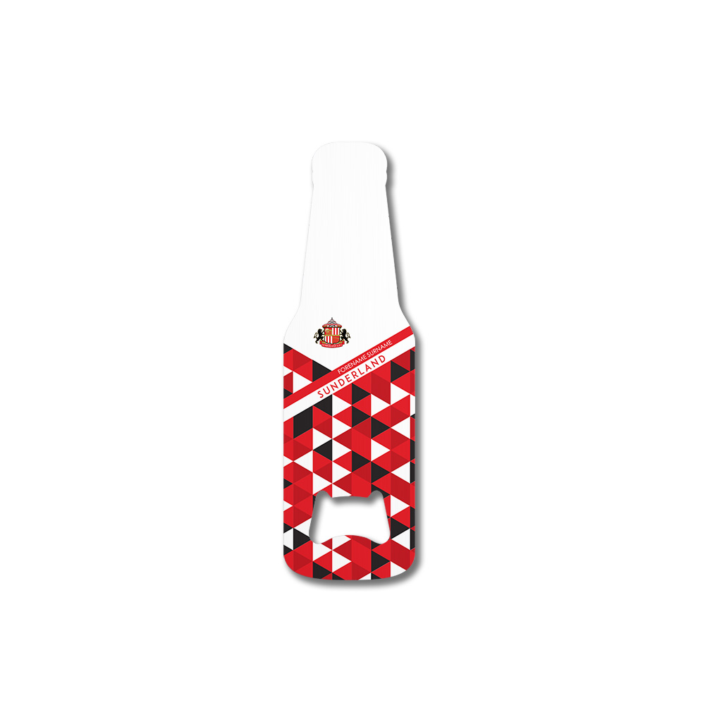 Sunderland AFC Patterned Bottle Shaped Bottle Opener
