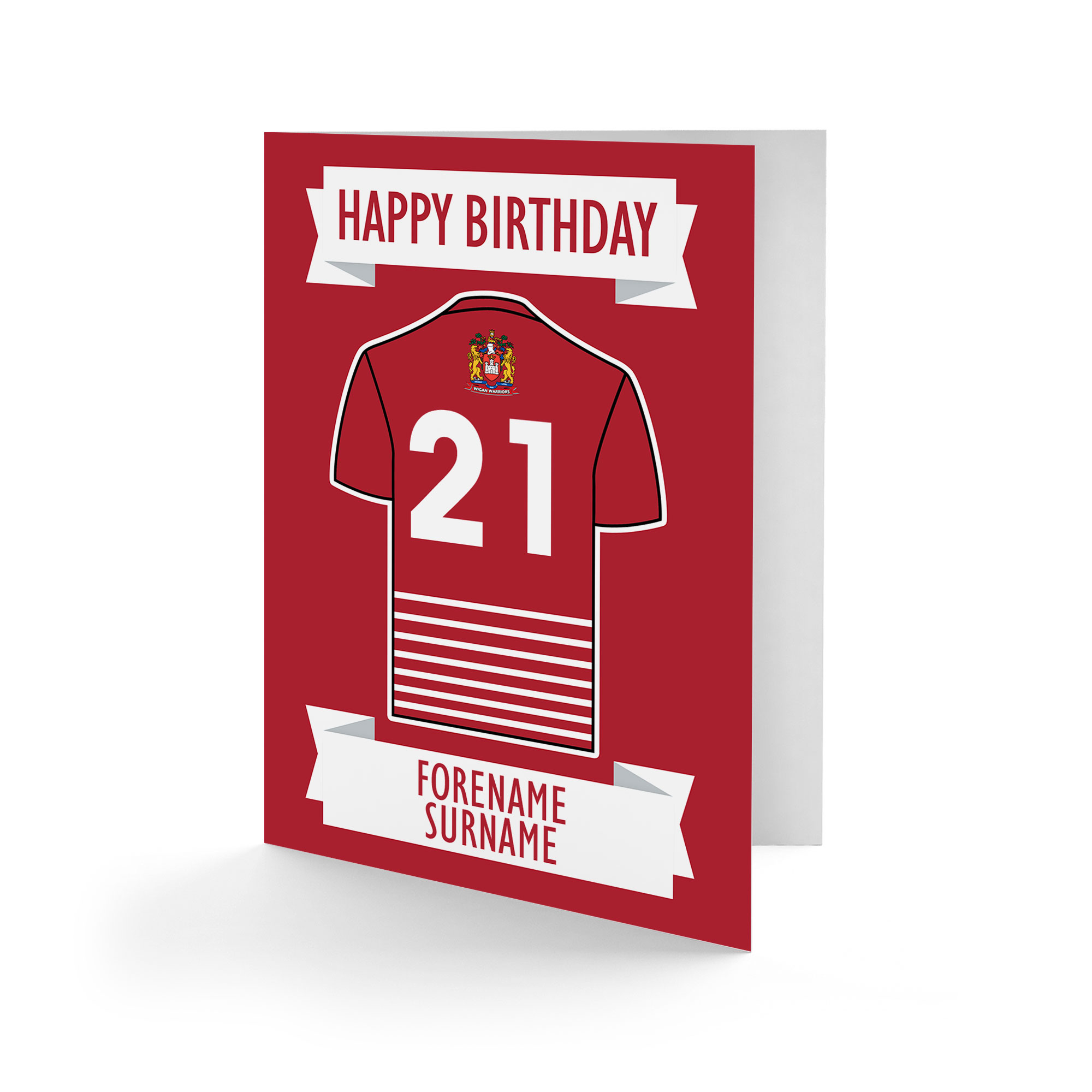 Wigan Warriors Shirt Birthday Card