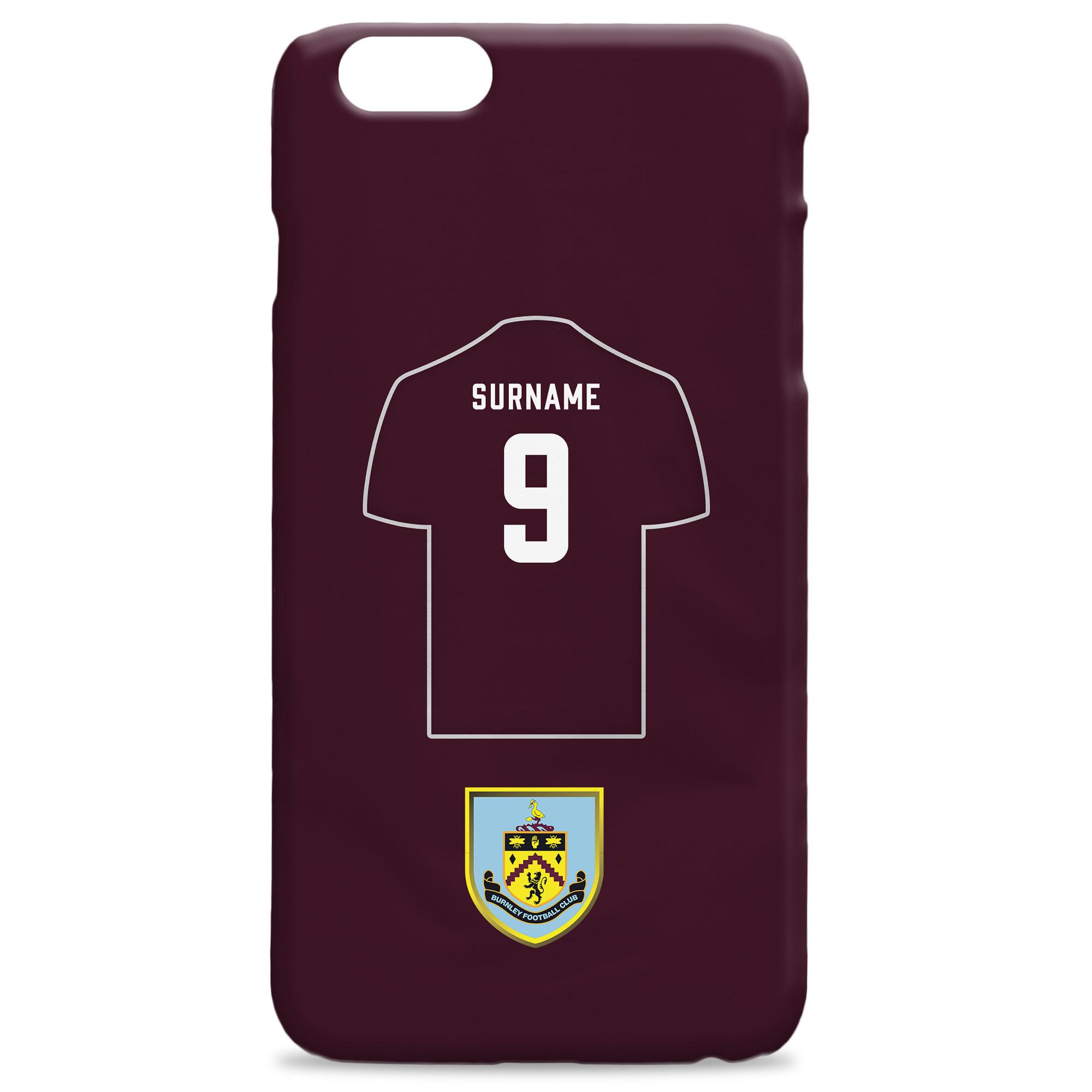 Burnley FC Shirt Hard Back Phone Case