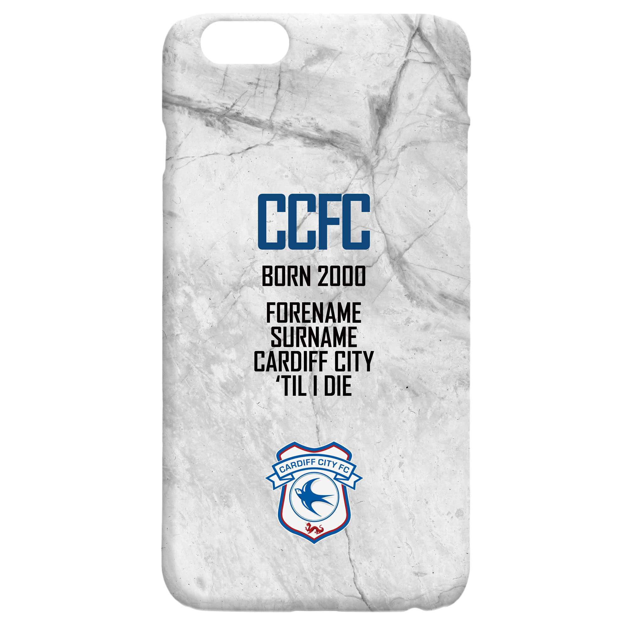 Cardiff City FC 'Til I Die Hard Back Phone Case