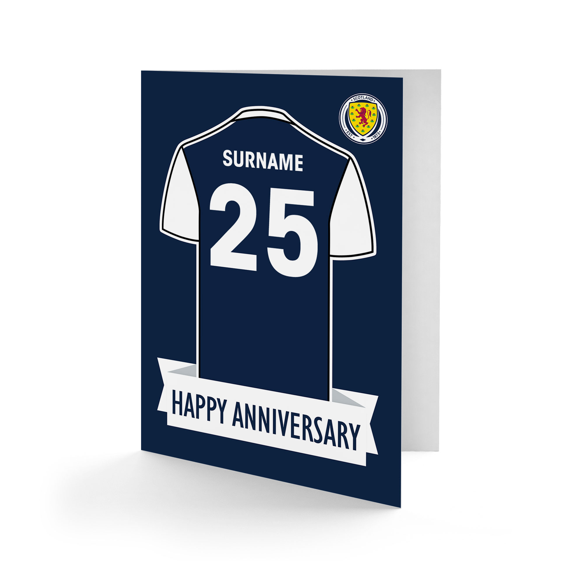 Scotland Shirt Anniversary Card