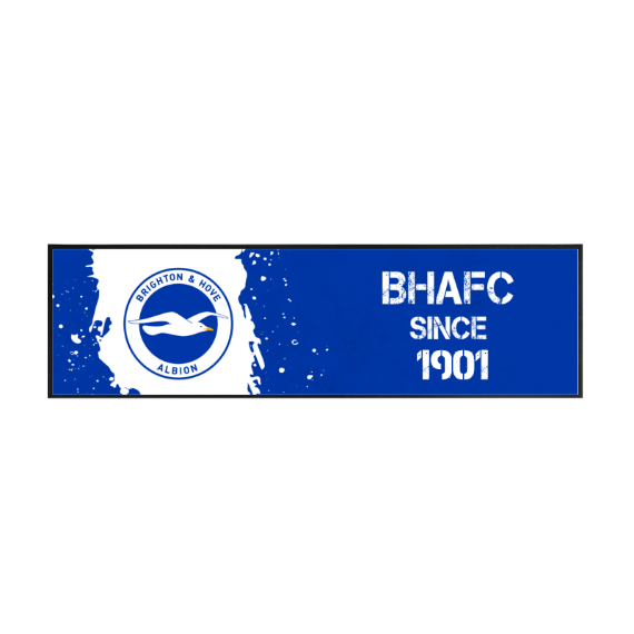 Brighton & Hove Albion FC Paint Splash Large Bar Runner