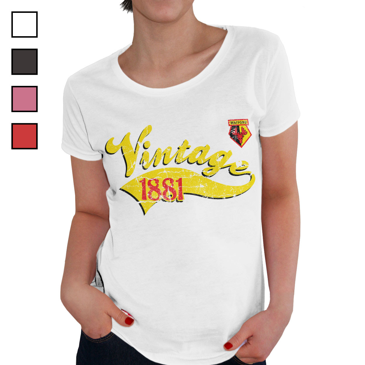 Watford FC Ladies Vintage T-Shirt