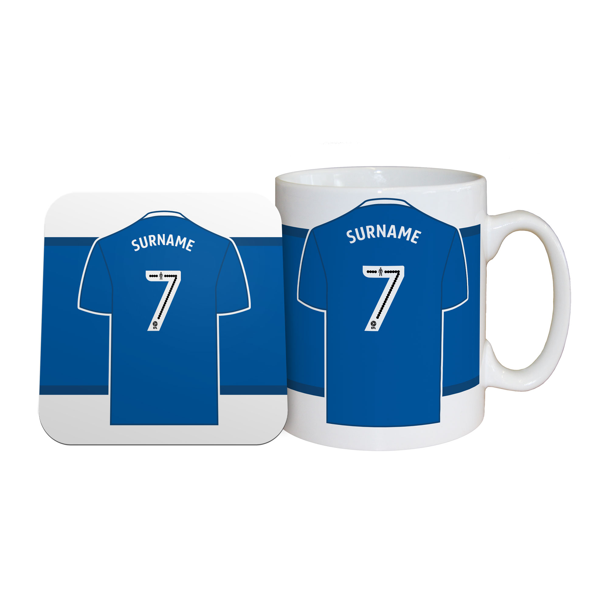Cardiff City FC Shirt Mug & Coaster Set