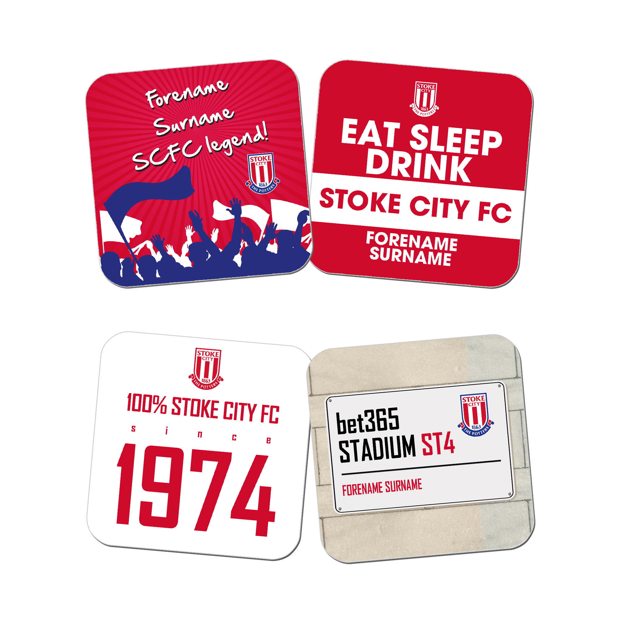 Stoke City FC Coasters