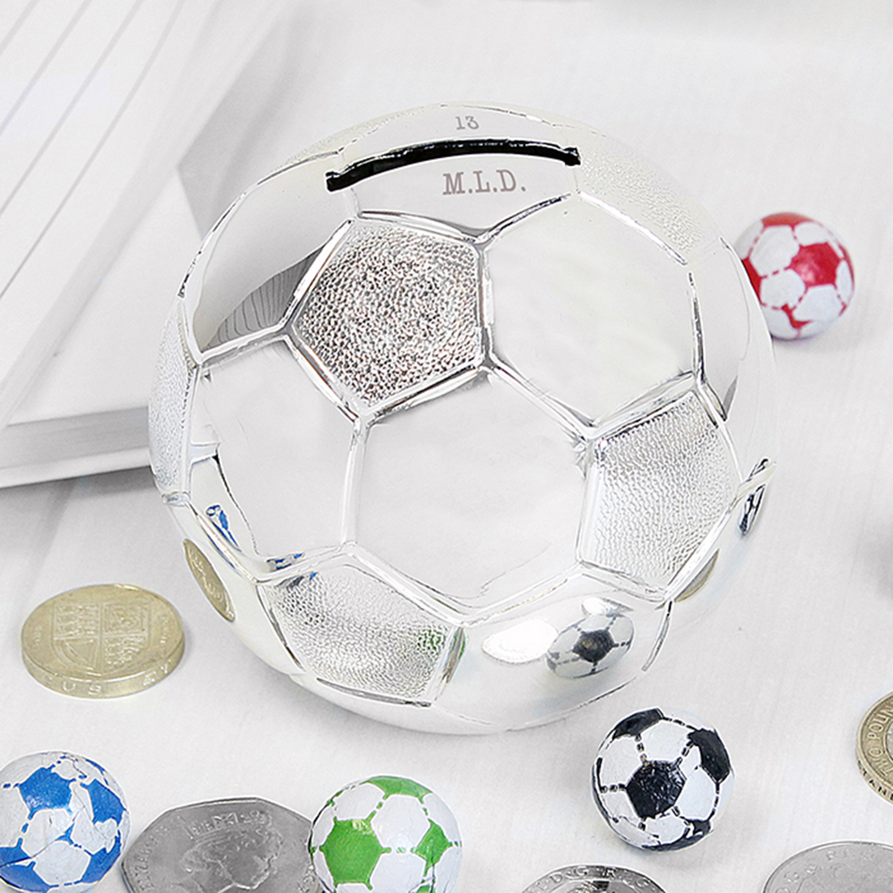 Engraved Football Money Box