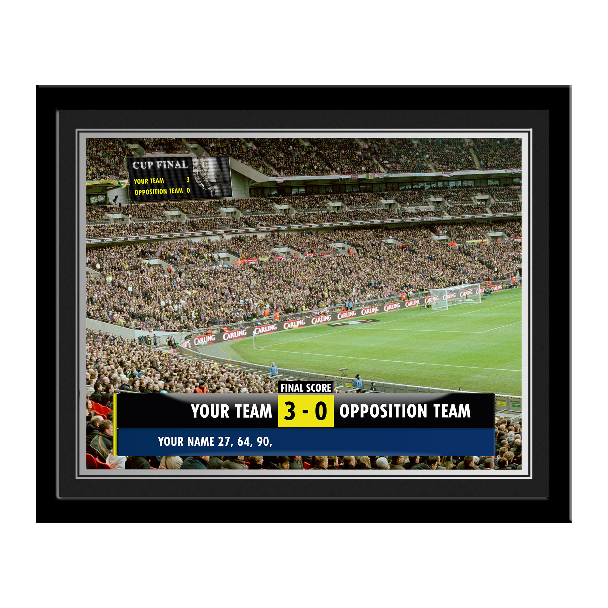Personalised Football Scoreboard Photo - Framed