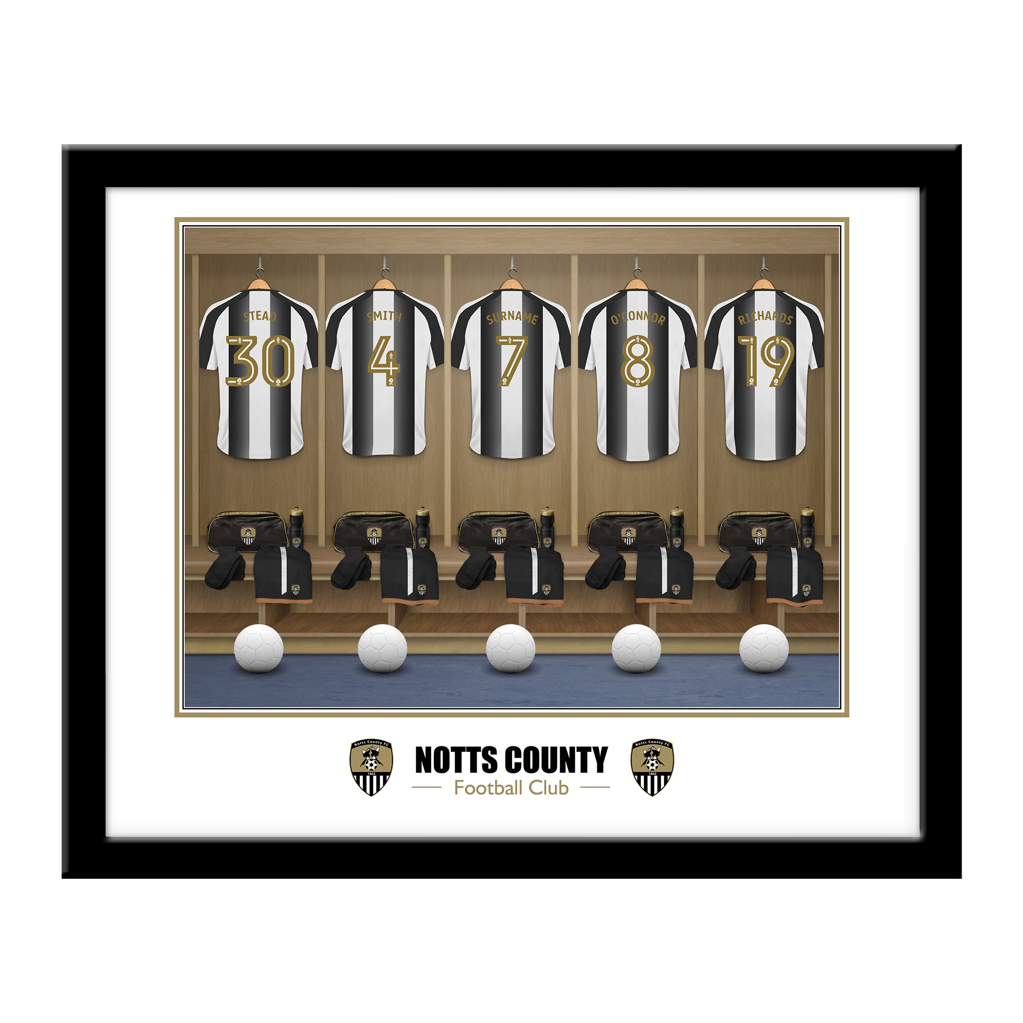 Notts County FC Dressing Room Framed Print