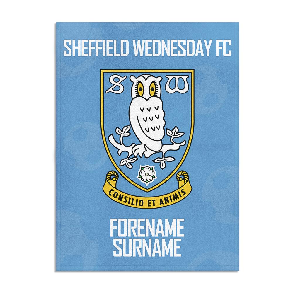 Sheffield Wednesday FC Crest Blanket (150cm x 110cm)