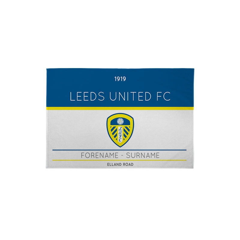 Leeds United FC Minimal Ticket 3ft x 2ft Banner