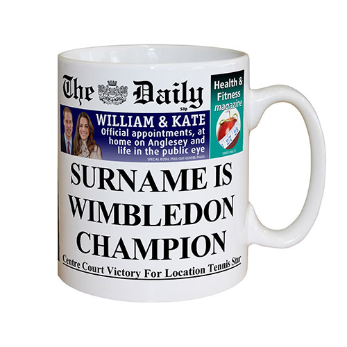 The Daily Male Tennis Mug